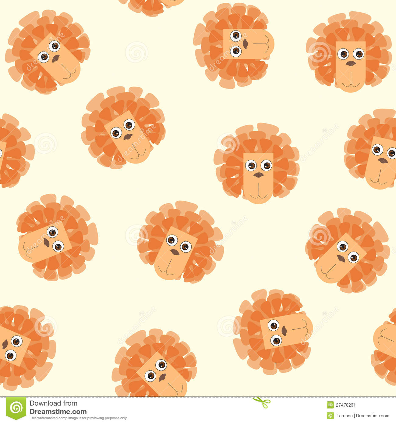 More Similar Stock Images Of Seamless Pattern With Lion Toys
