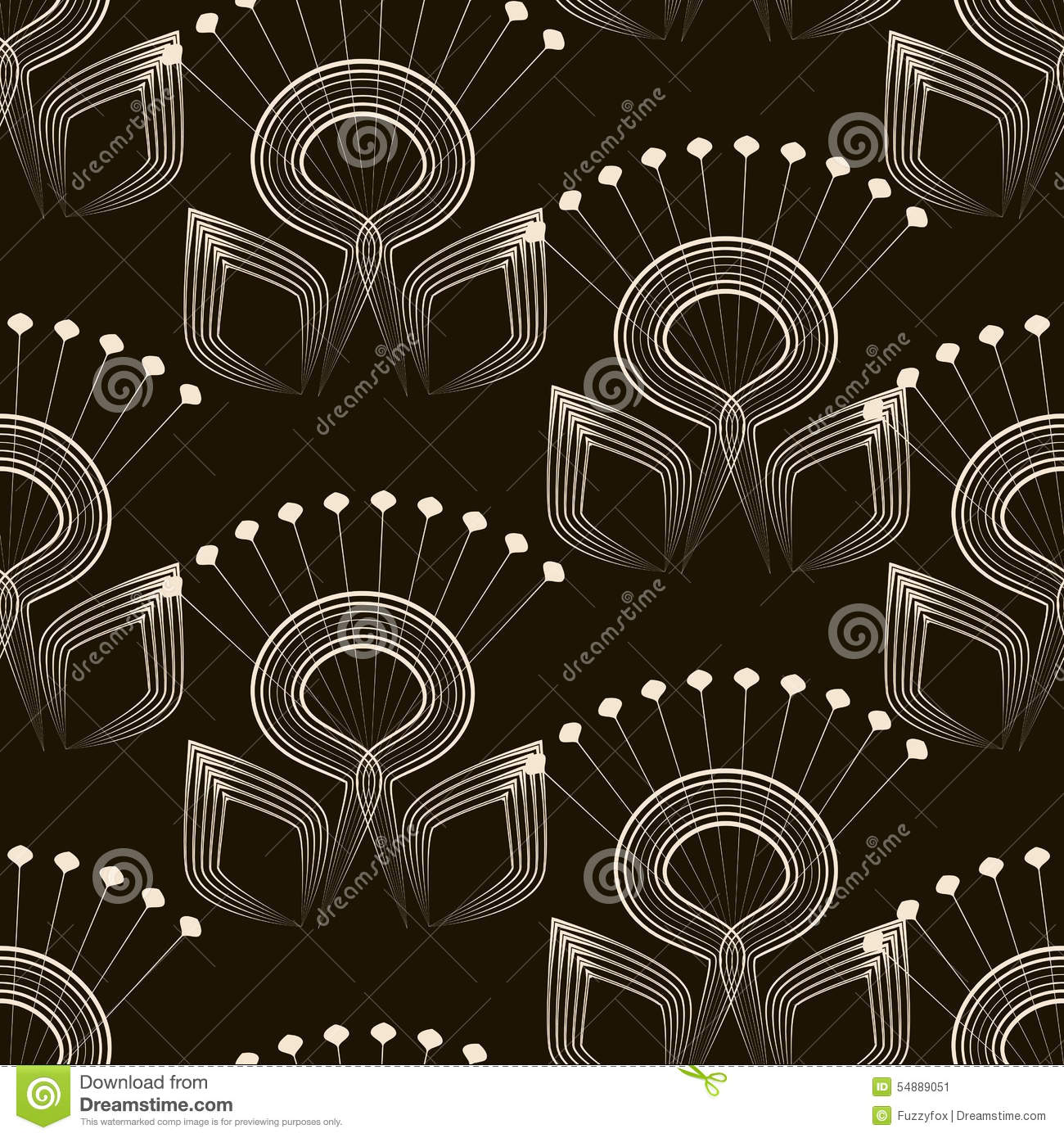 Seamless pattern monochrome art deco ornament with for Deco graphic