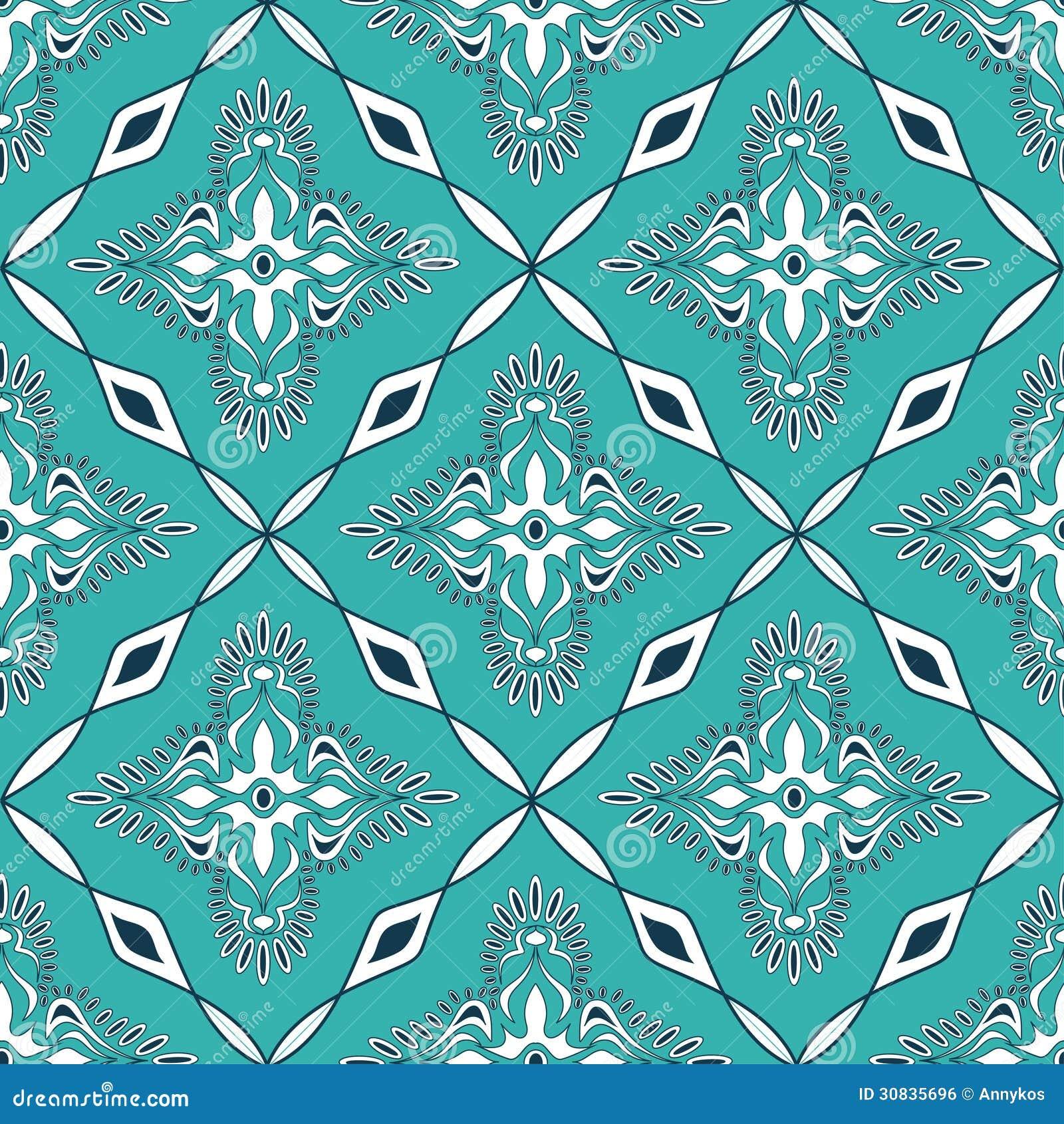 Seamless Pattern Of Moroccan Mosaic Royalty Free Stock