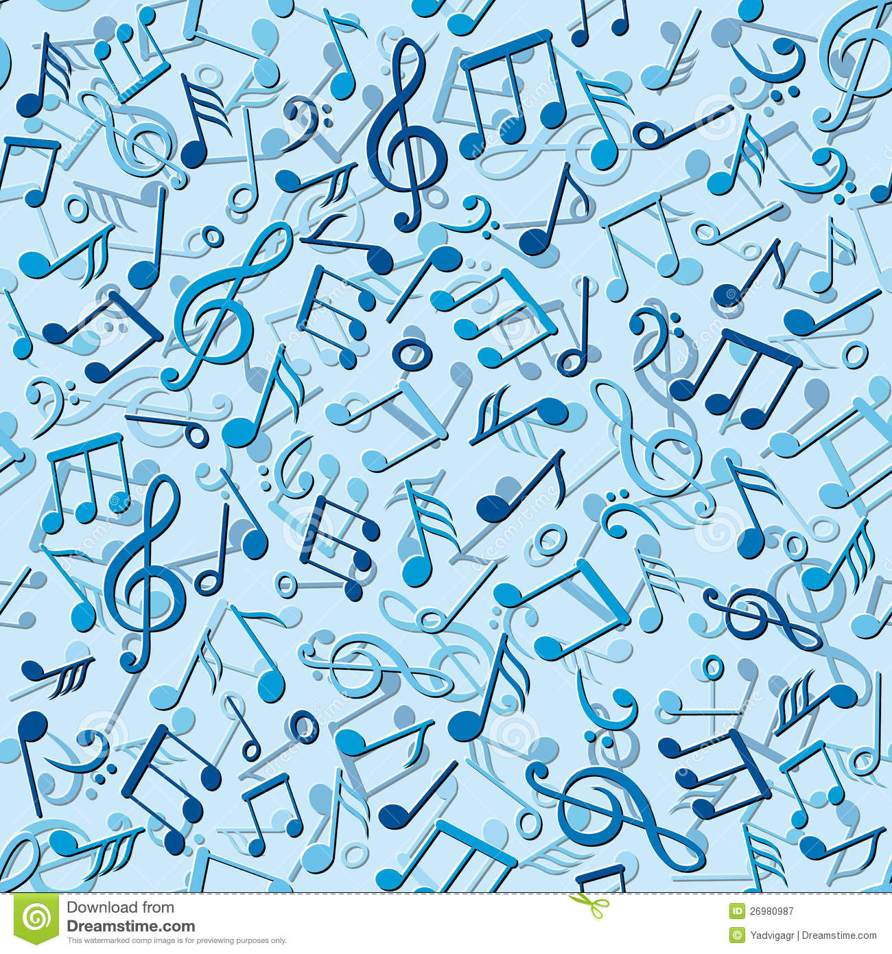 Seamless Pattern With Music Notes Royalty Free Stock Photography ...