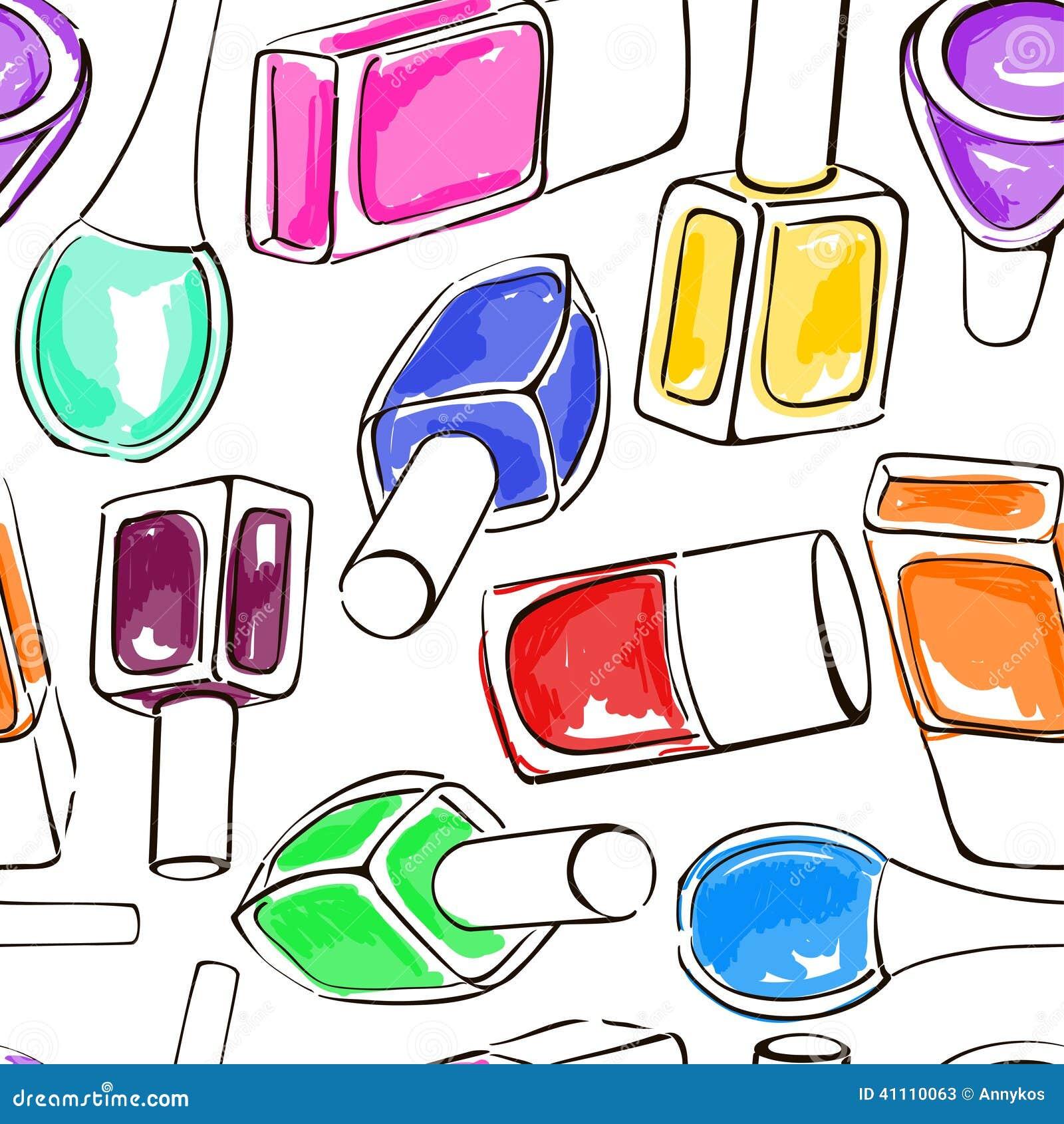 Лак для ногтей нарисовать