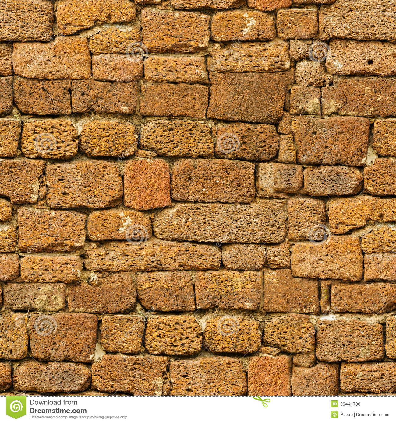 Seamless Pattern Old Brown Rough Natural Stone Wall