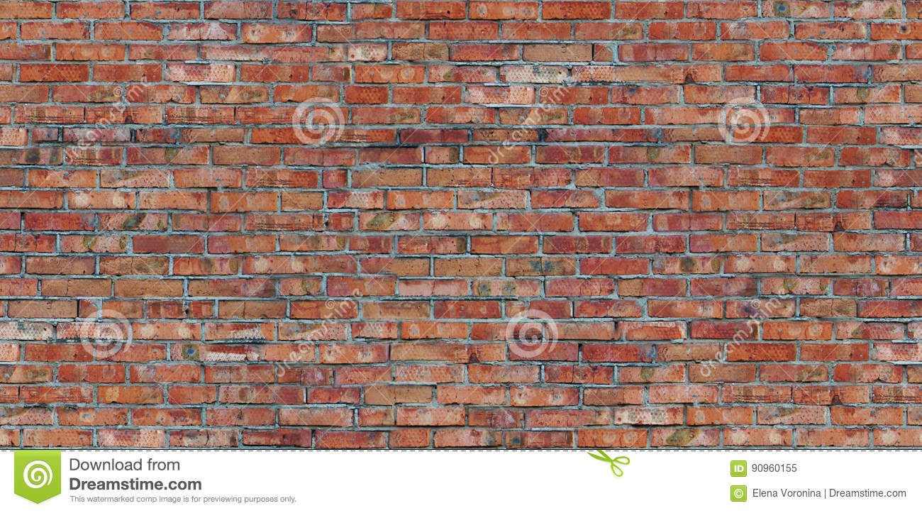 Seamless pattern old red brick wall texture