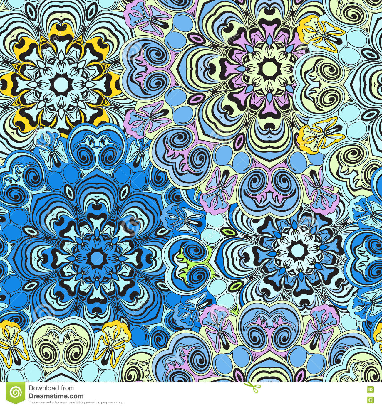 Turkish Design Wallpaper : Seamless pattern in oriental style colorful wallpaper or
