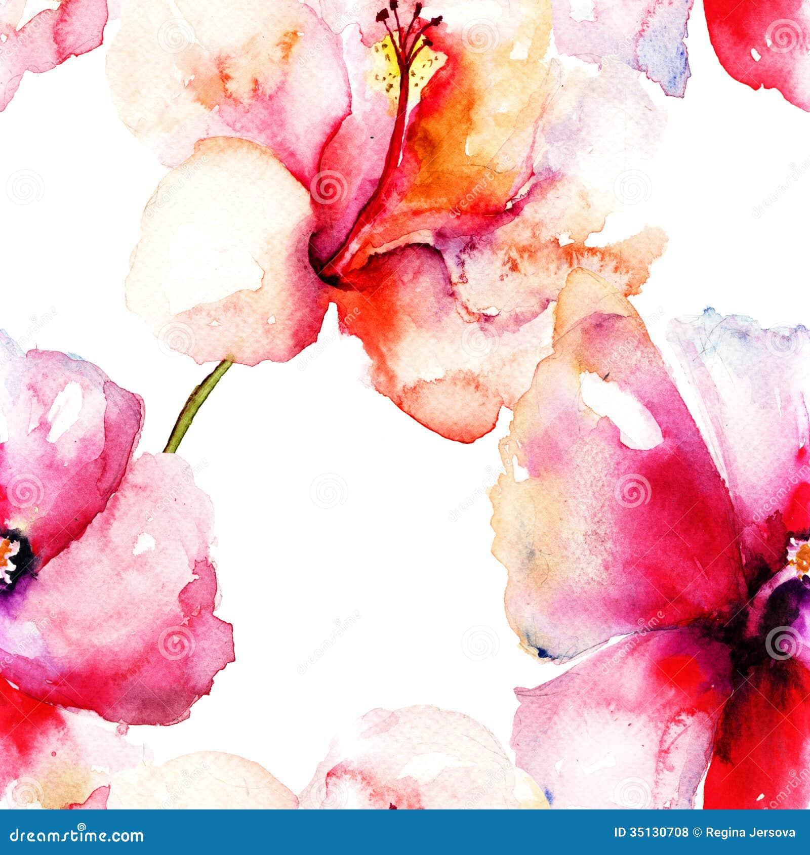 Seamless pattern with original lily flower stock illustration seamless pattern with original lily flower izmirmasajfo
