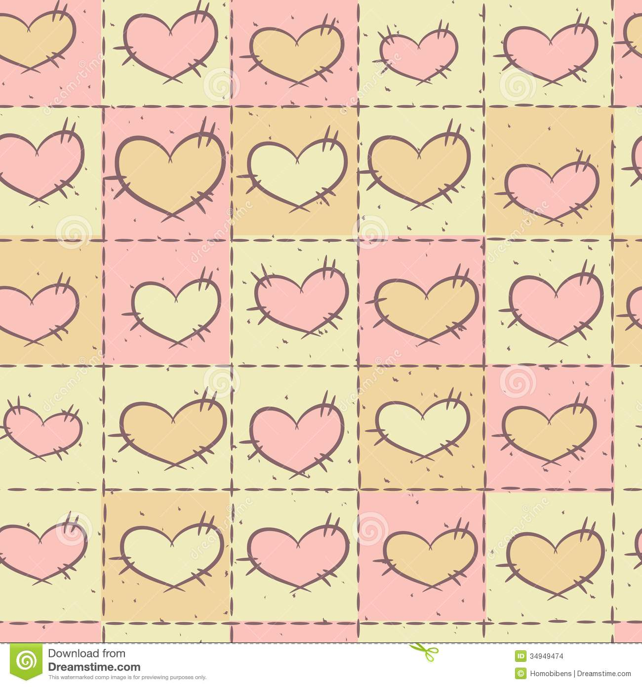 Seamless pattern with patchwork