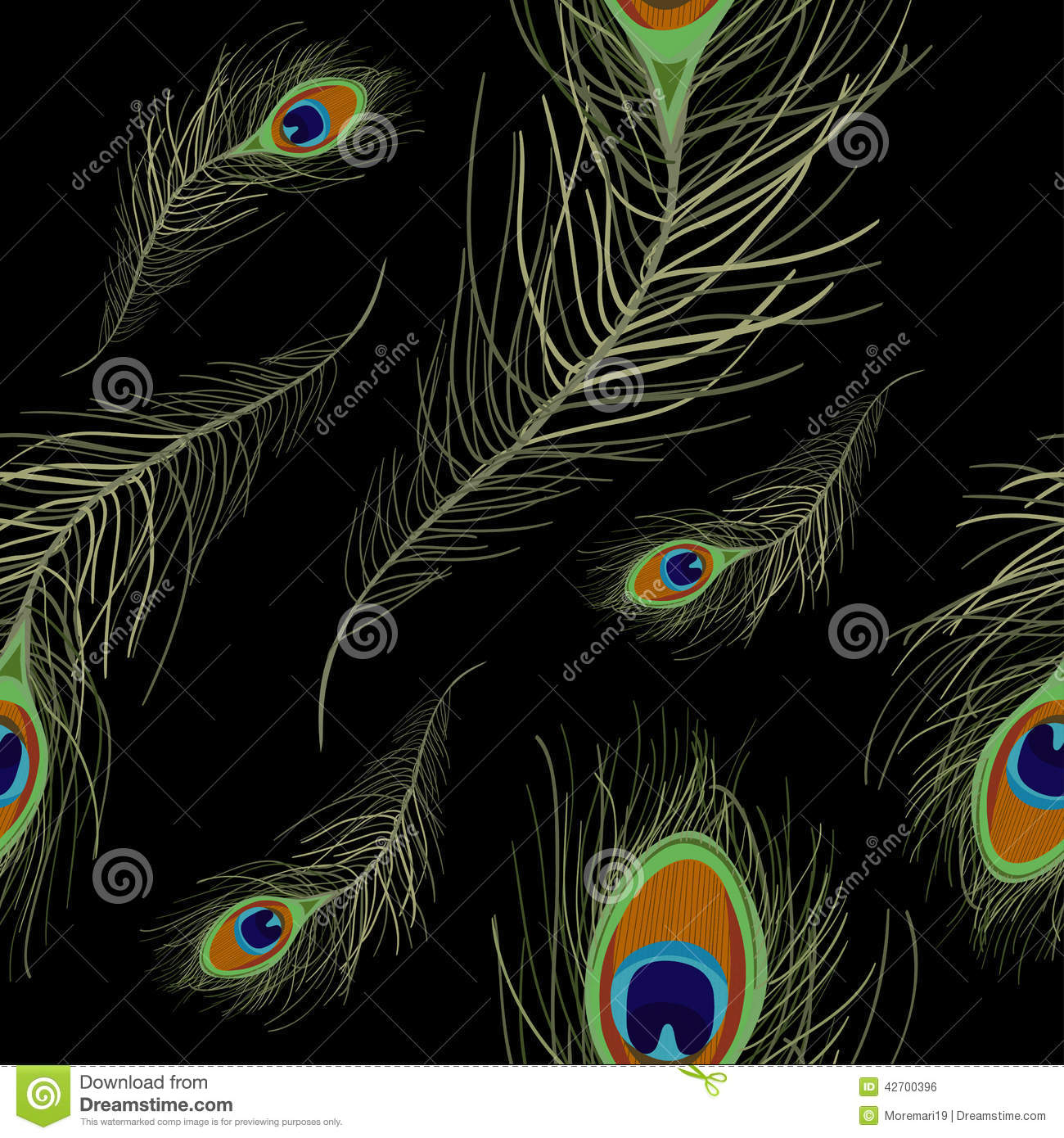 vector abstract peacock seamless - photo #45