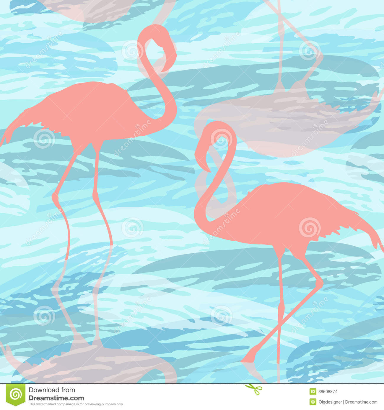 Seamless pattern with pink flamingo stock images image 38508874 - Flamant rose decoration ...