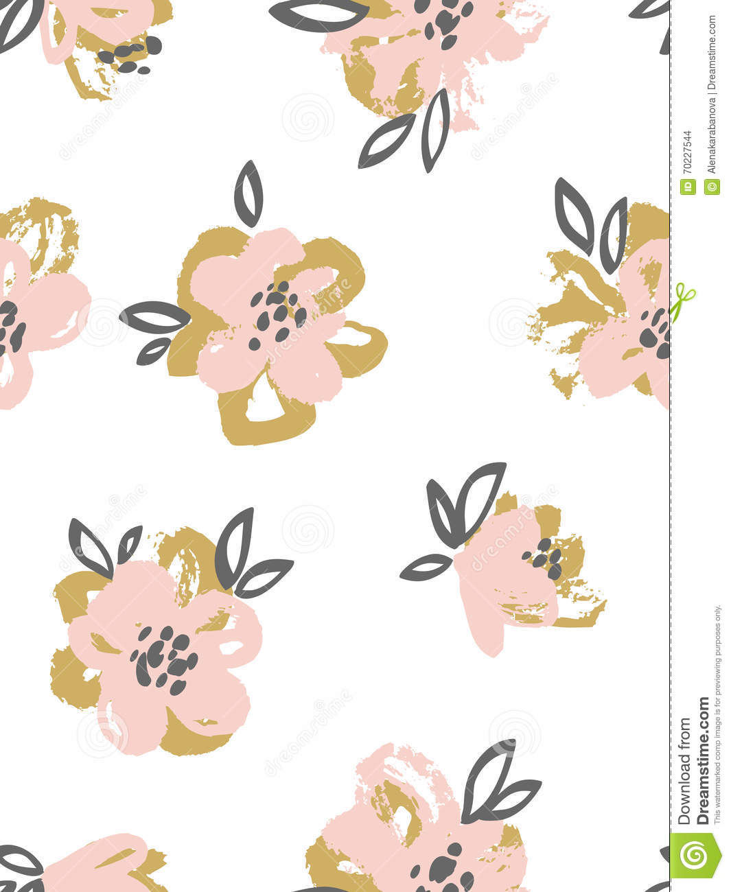 Seamless pattern with pink and gold flowers floral background download comp mightylinksfo