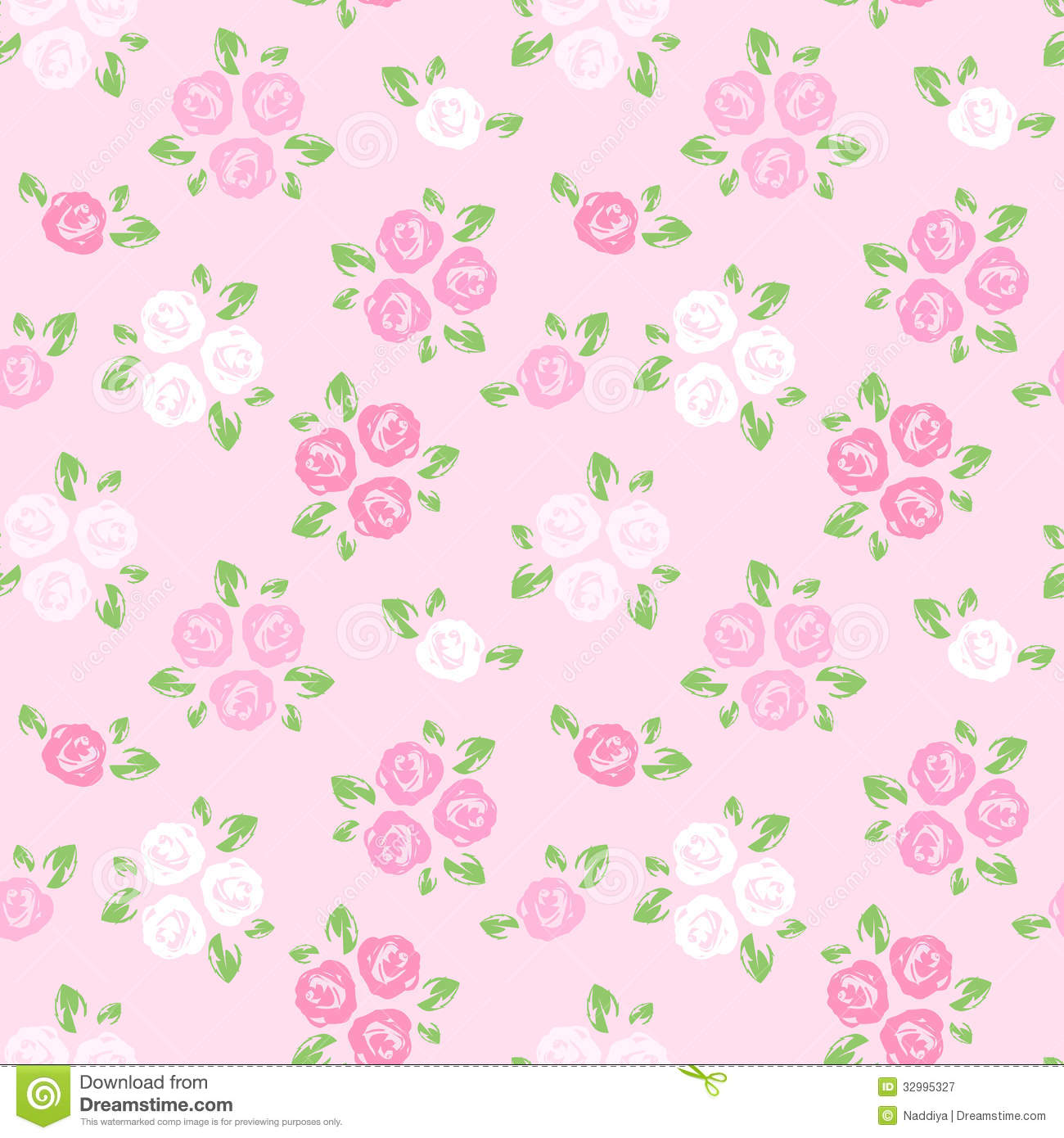 ... Pink And White Roses. Royalty Free Stock Photography - Image: 32995327