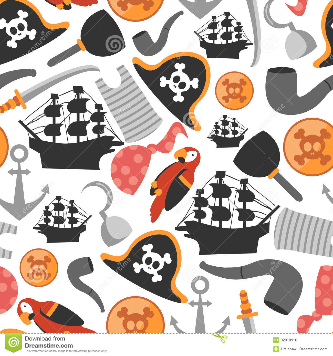 Patterns For Pirates Image Mag : seamless pattern pirate elements various 32818916 from imagemag.ru size 1300 x 1390 jpeg 194kB