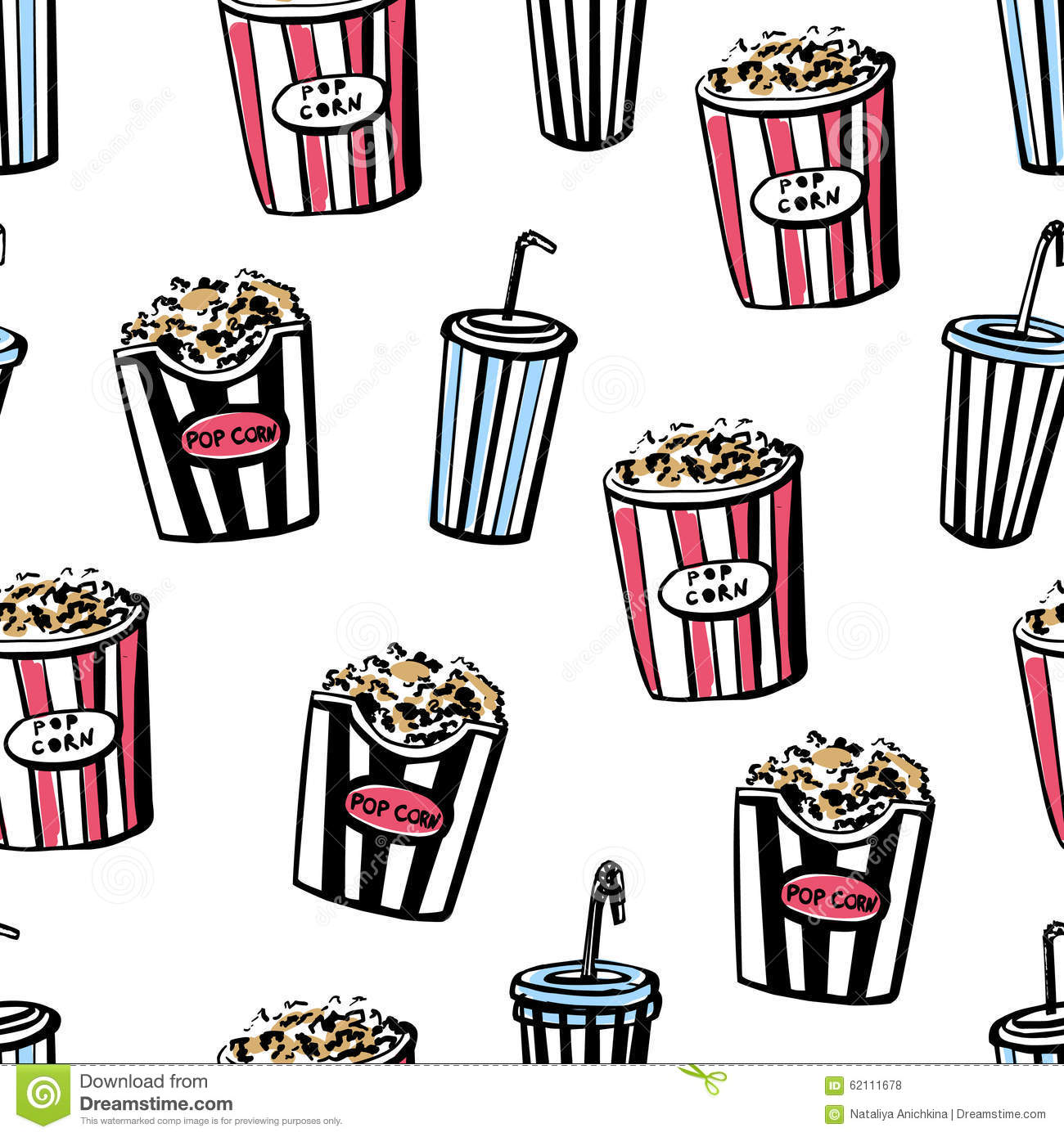 seamless pattern with popcorn and soda stock vector movie theatre popcorn clip art movie theatre popcorn clip art