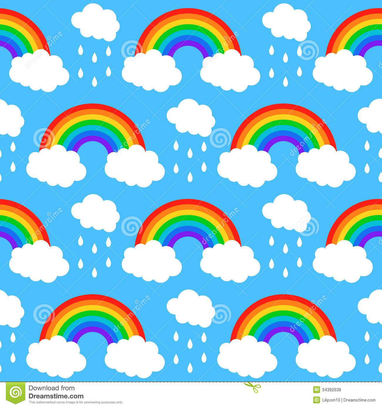 blue cloud with rainbow wallpaper - photo #37