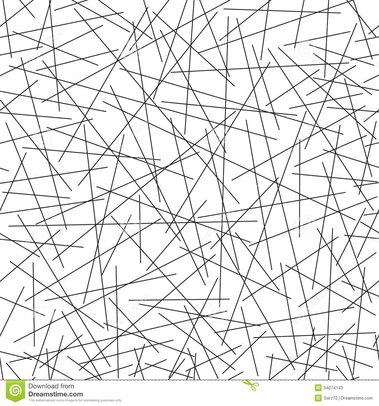 Seamless Pattern Of Random Lines Stock Vector - Image
