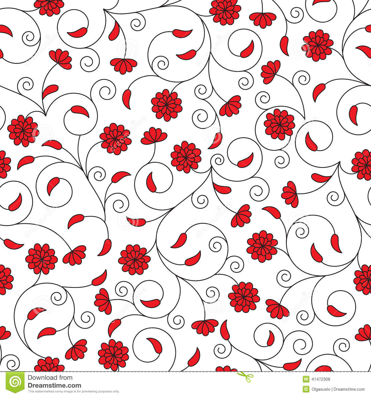 Red And White Pattern Background