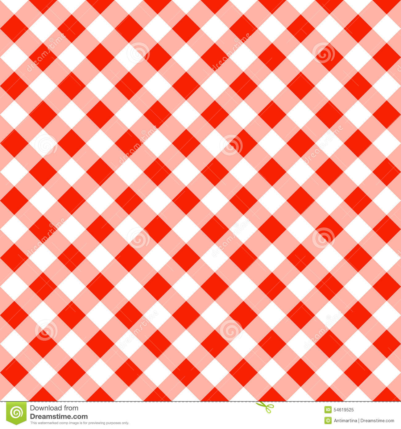 Seamless Pattern Of A Red White Plaid Tablecloth Royalty Free Stock Photo
