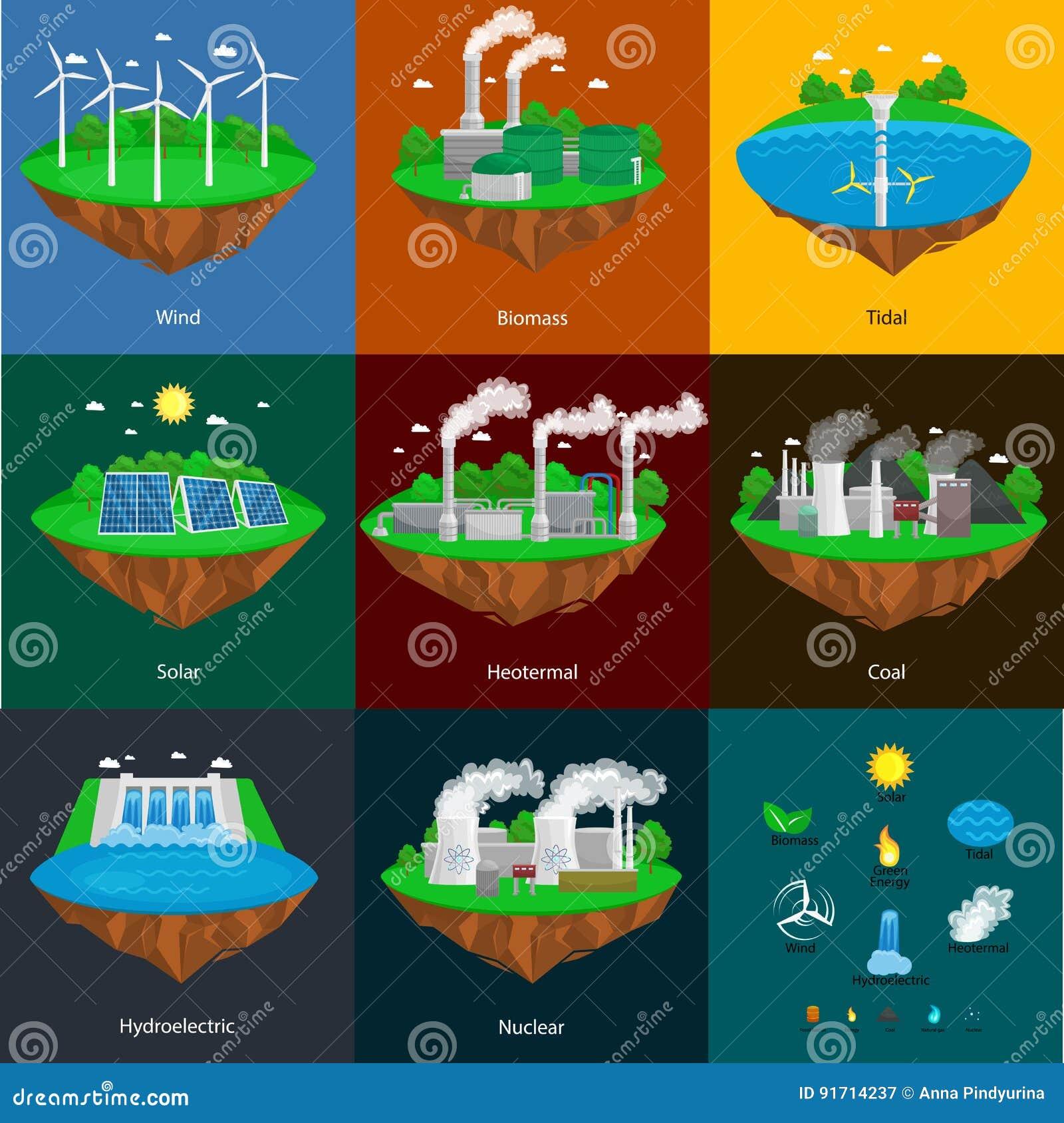 Seamless Pattern Renewable Ecology Energy, Green City Power