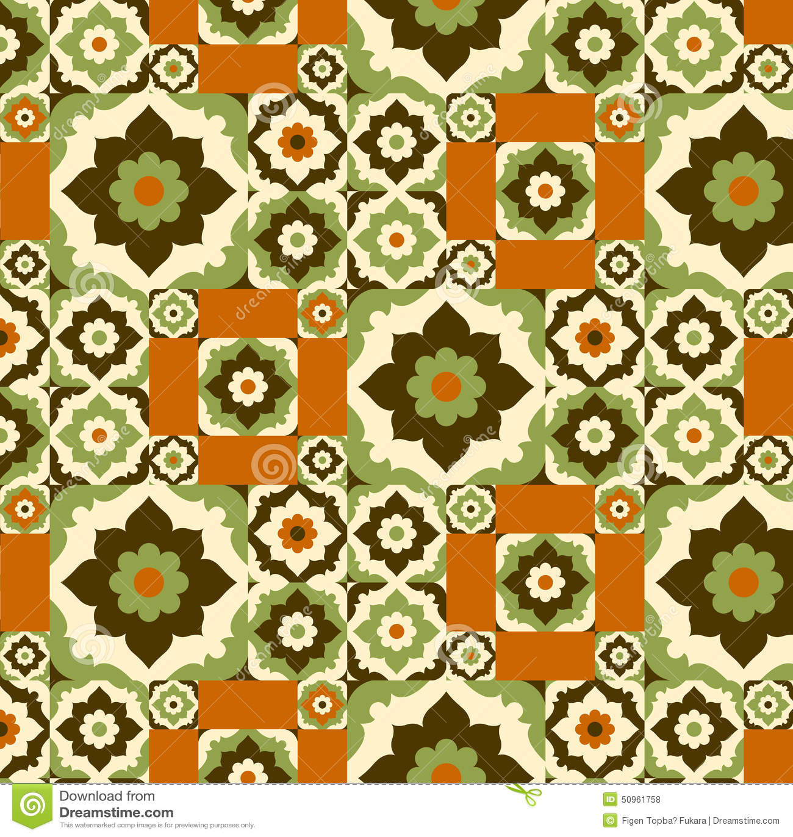 Seamless pattern retro ceramic tile design with floral ornate seamless pattern retro ceramic tile design with floral ornate dailygadgetfo Choice Image