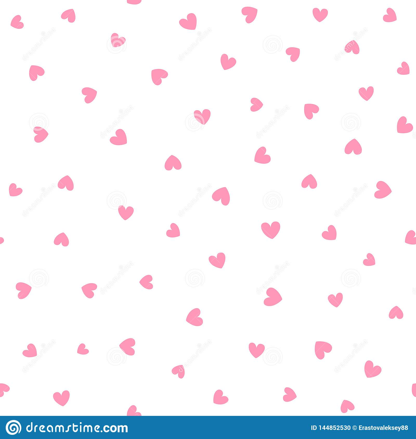 Seamless pattern with scattered stars. Romantic vector illustration.
