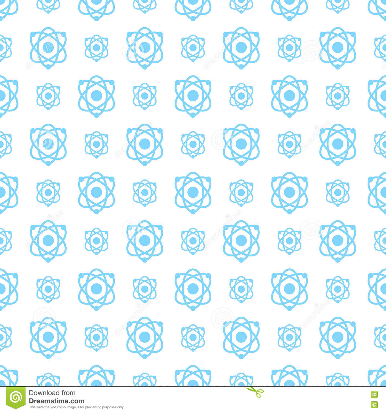 Seamless pattern science and technology vector background
