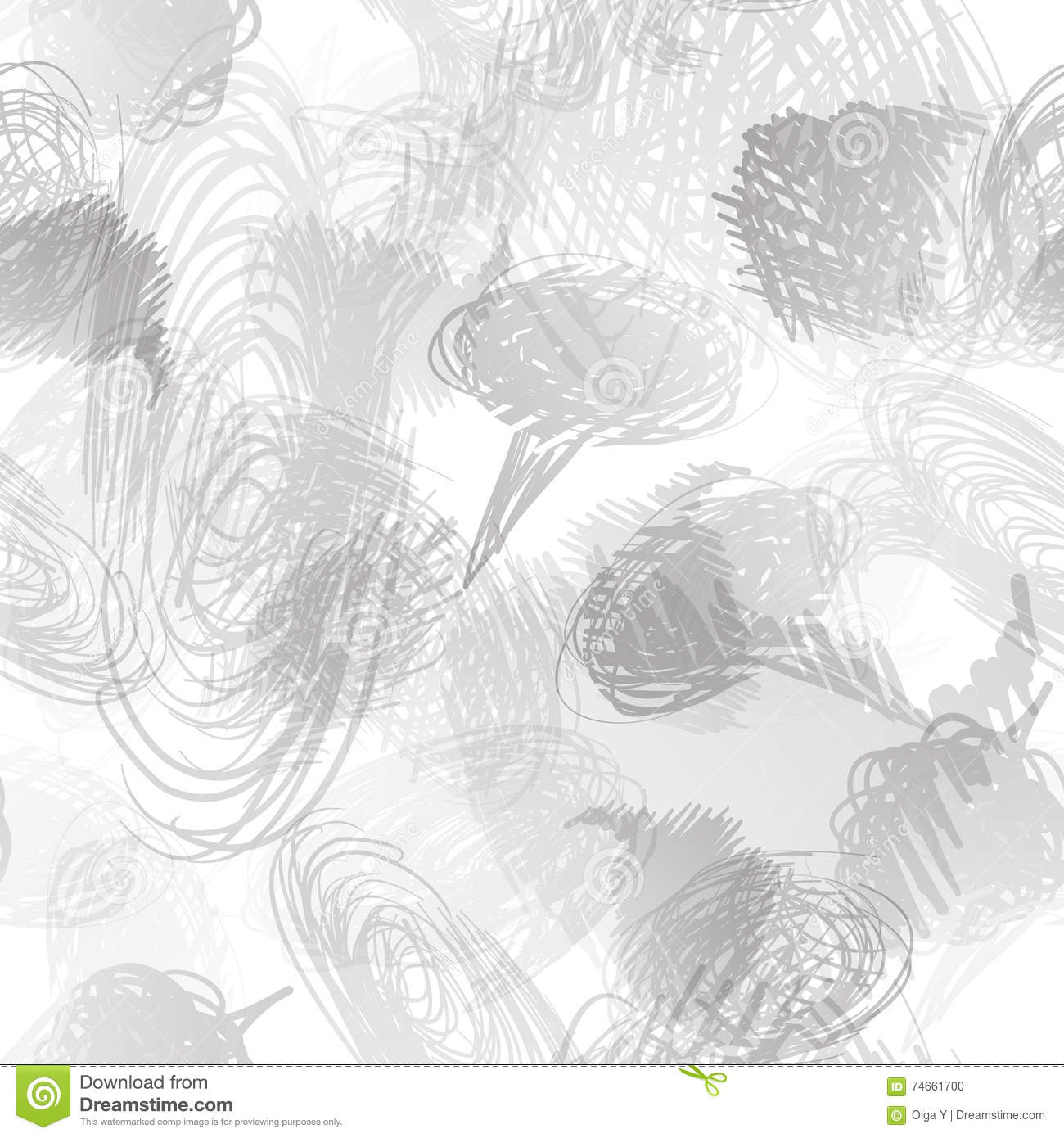 Seamless Pattern With Scribbles Frames  Stock Illustration
