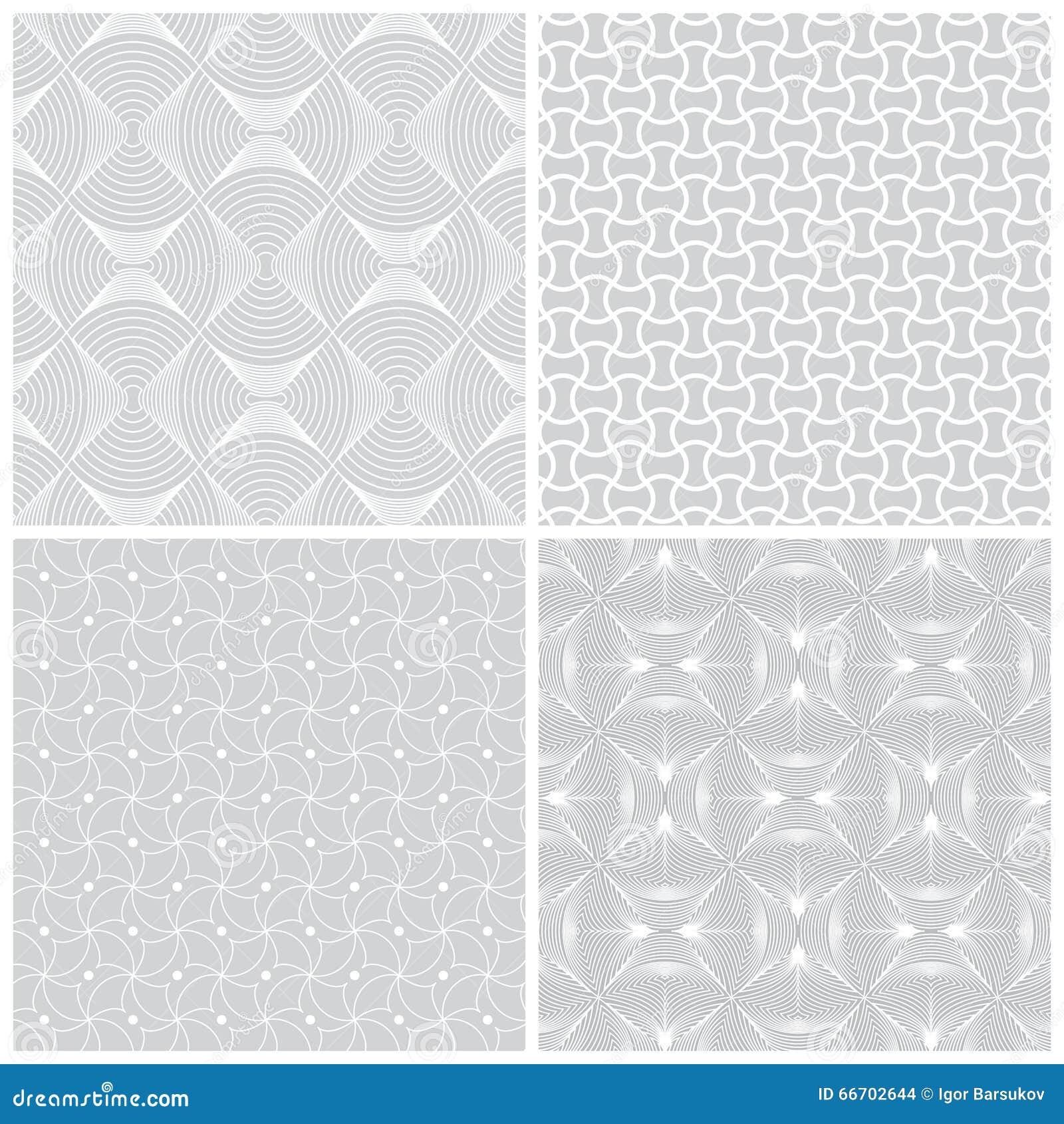 seamless pattern set36 stock vector