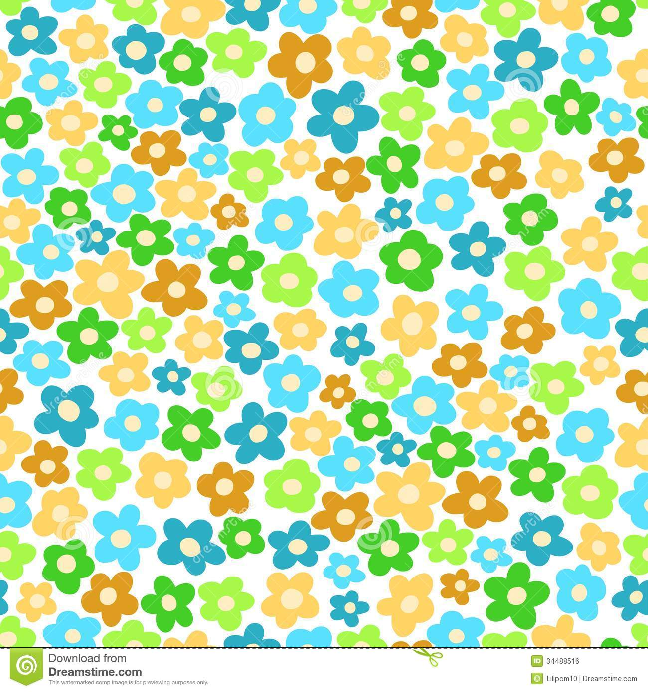 Seamless Pattern With Small Flowers Royalty Free Stock