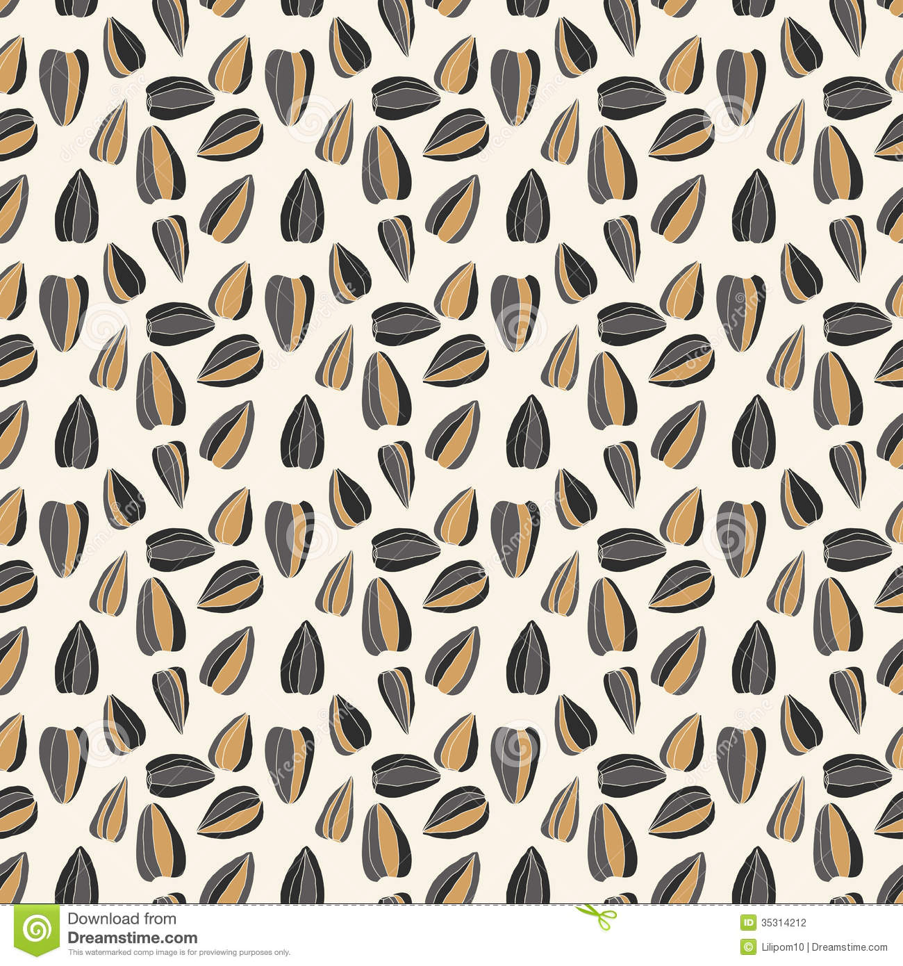 Seamless pattern with sunflower seeds stock photography - Interior design websites free ...