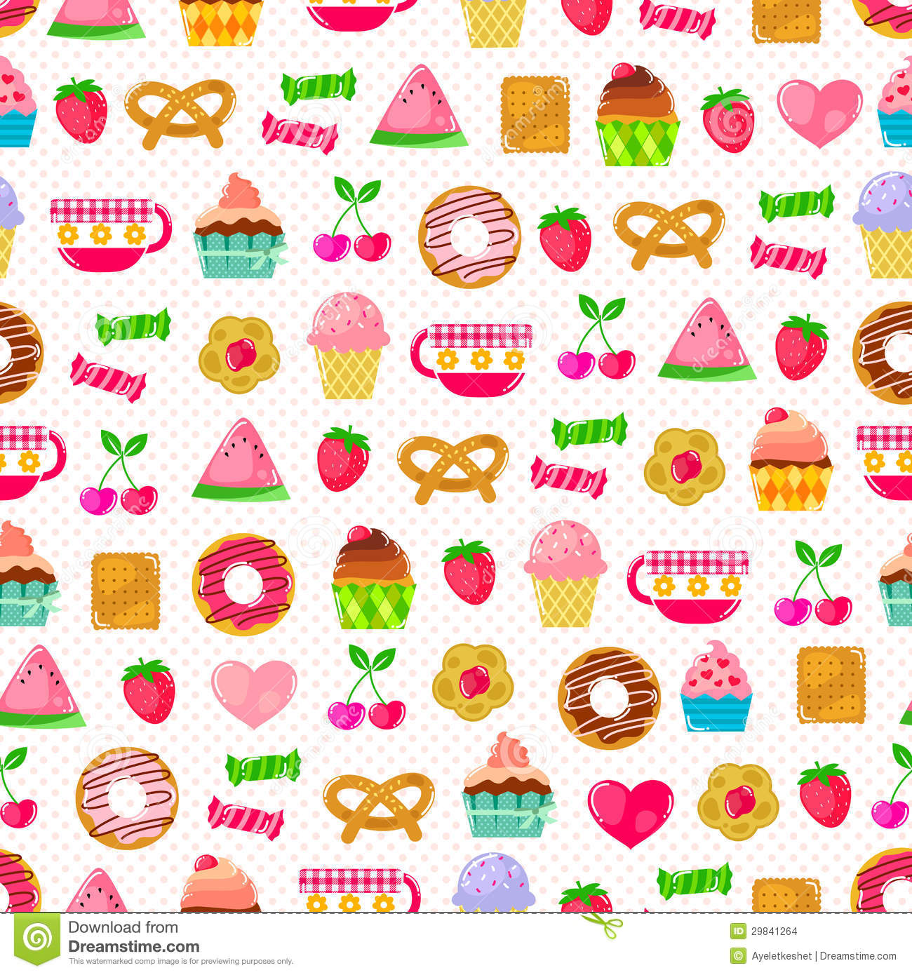 Girly Things Seamless Pattern Background Stock Photo - Image: 31734740