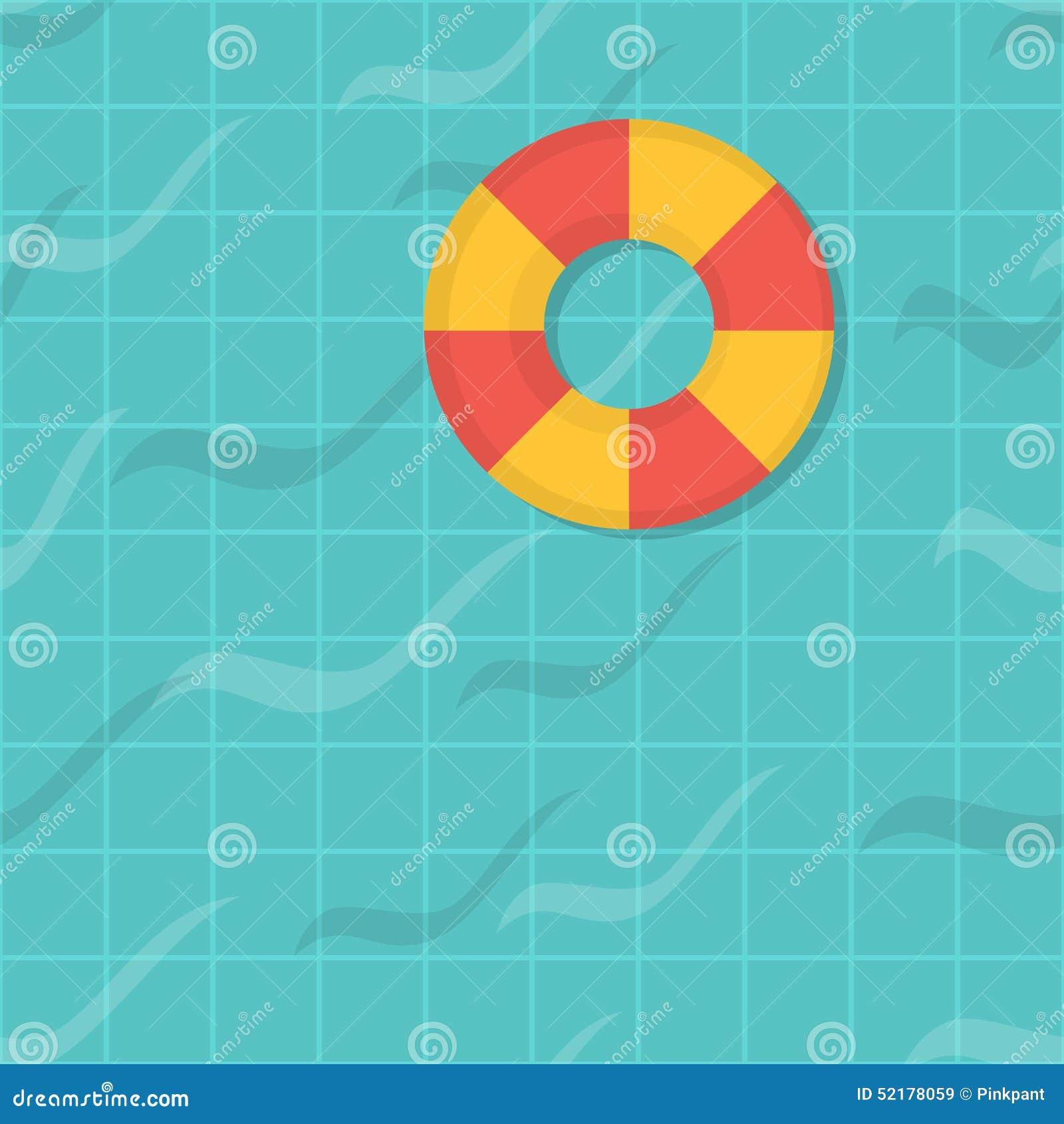 Seamless pattern swimming pool top view flat design for Pool design pattern