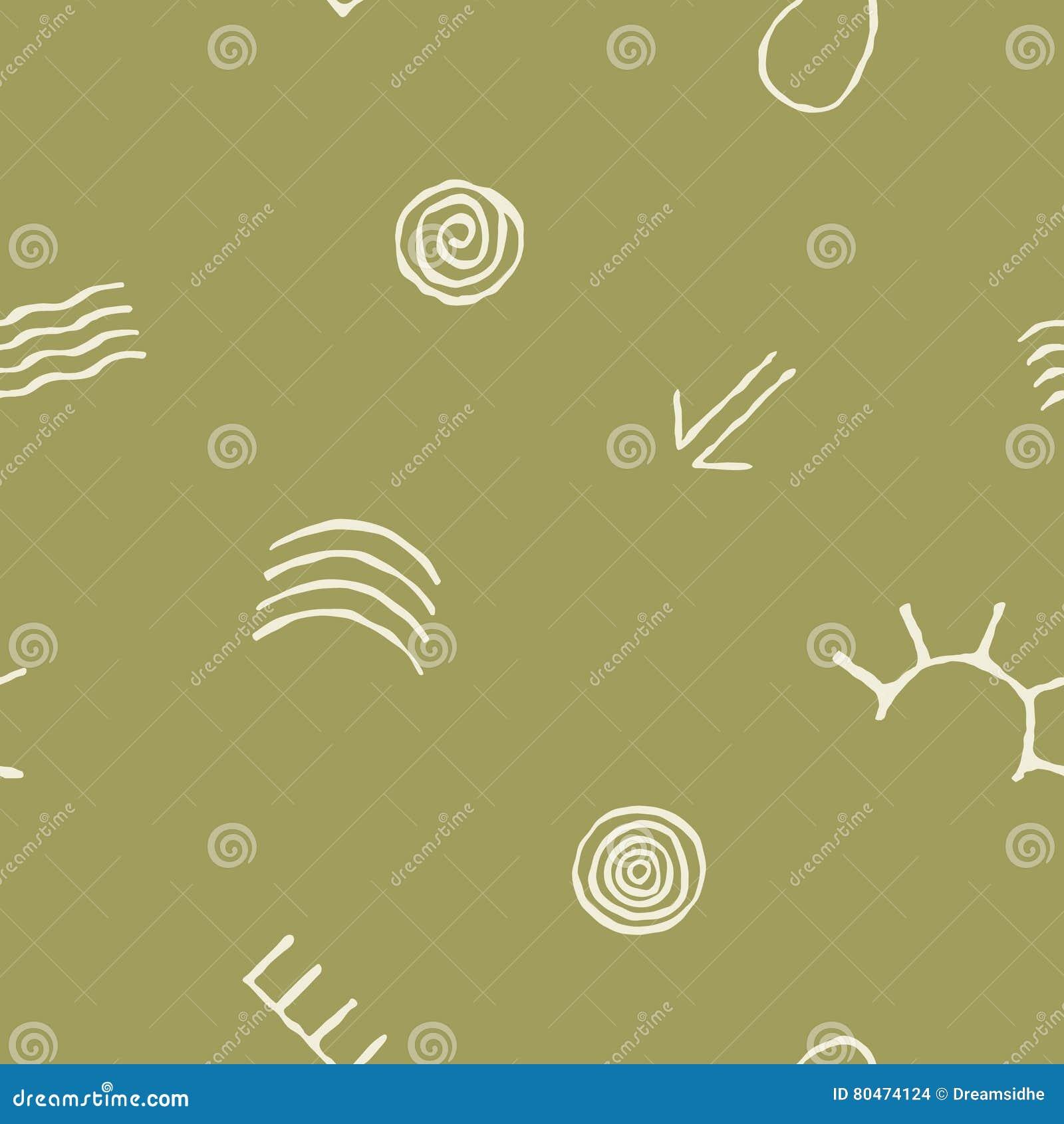 Seamless Pattern With Symbols Of Australian Aboriginal Art Stock