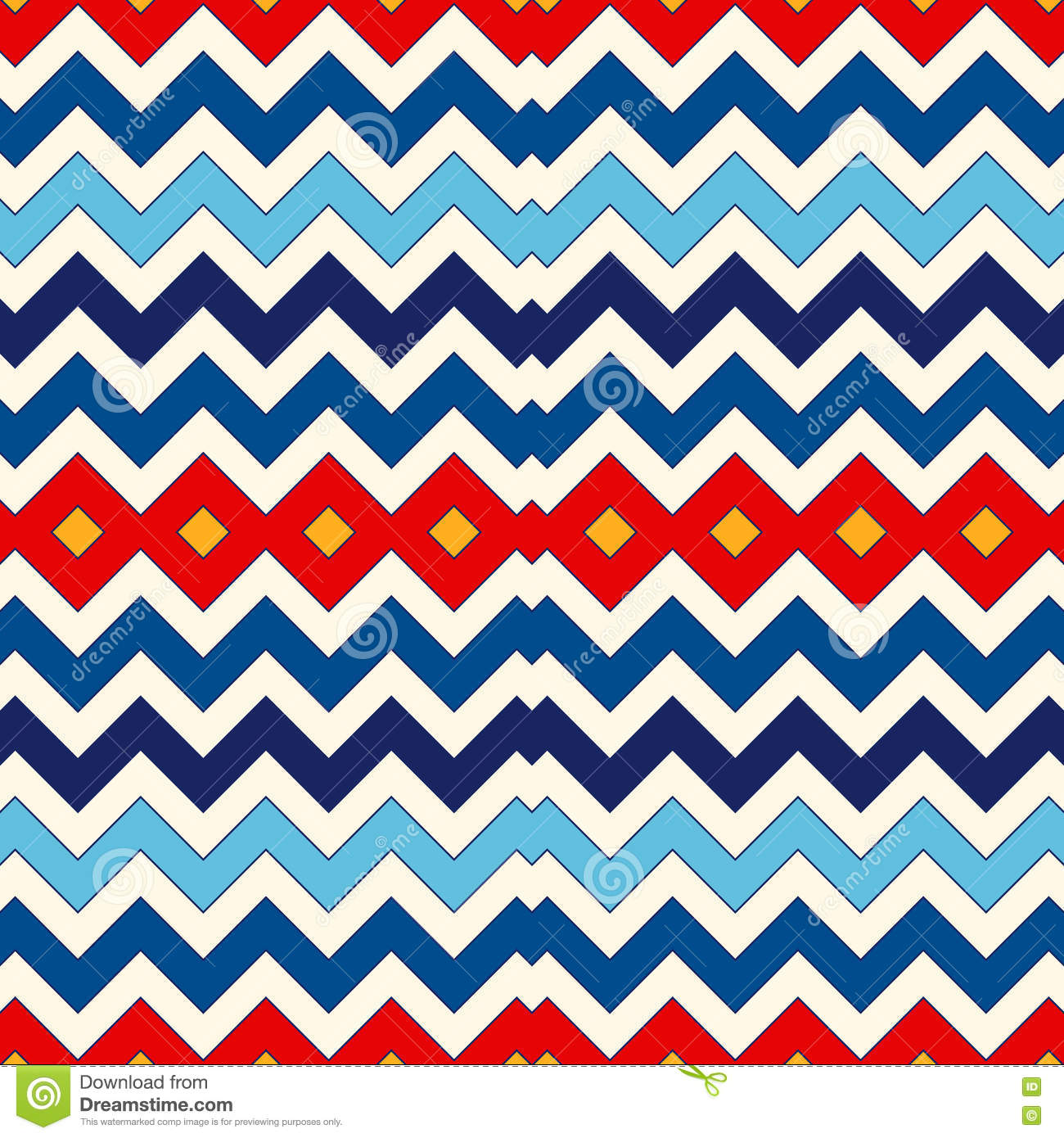 Background geometric mexican patterns seamless vector zigzag maya - Seamless Pattern With Symmetric Geometric Ornament Chevron Zigzag Bright Colors Horizontal Lines Abstract Background