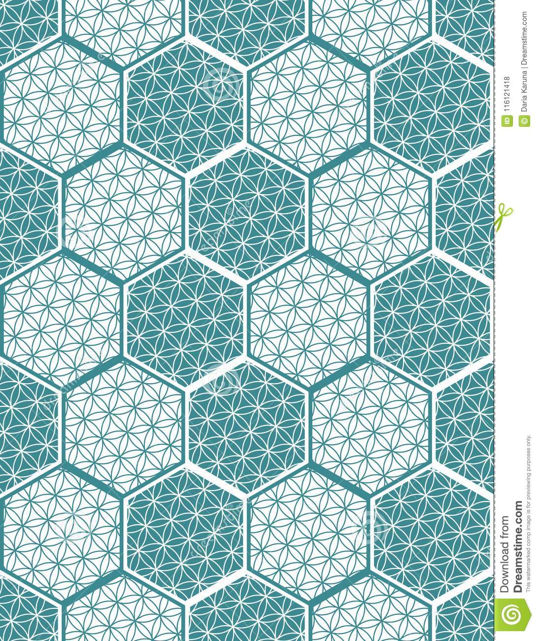 Seamless Pattern For Tiles In The Bathroom. Drawing For Home ...