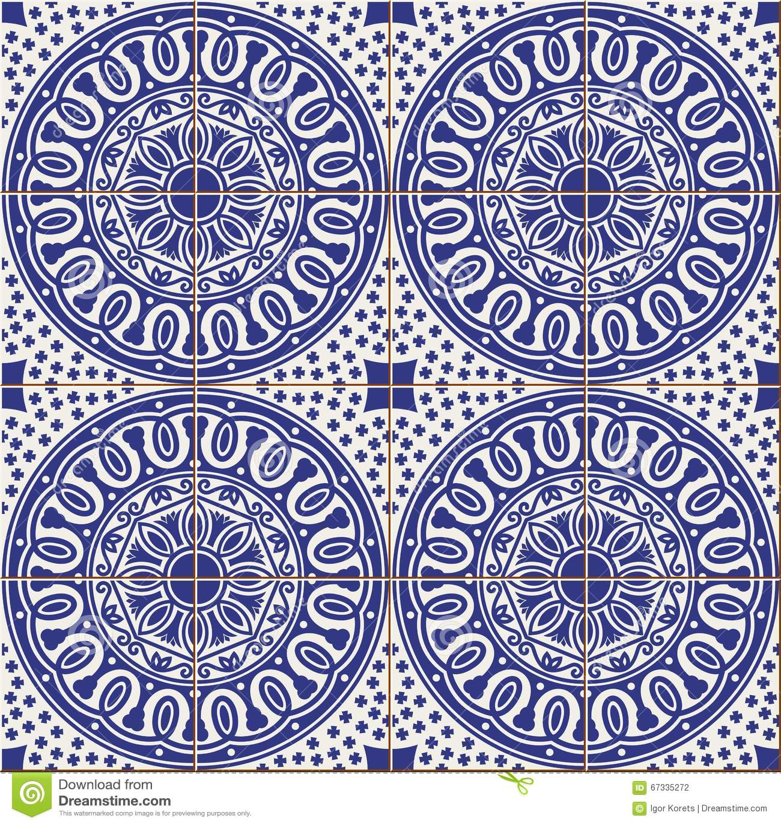 Seamless Pattern   Turkish, Moroccan, Portuguese Tiles