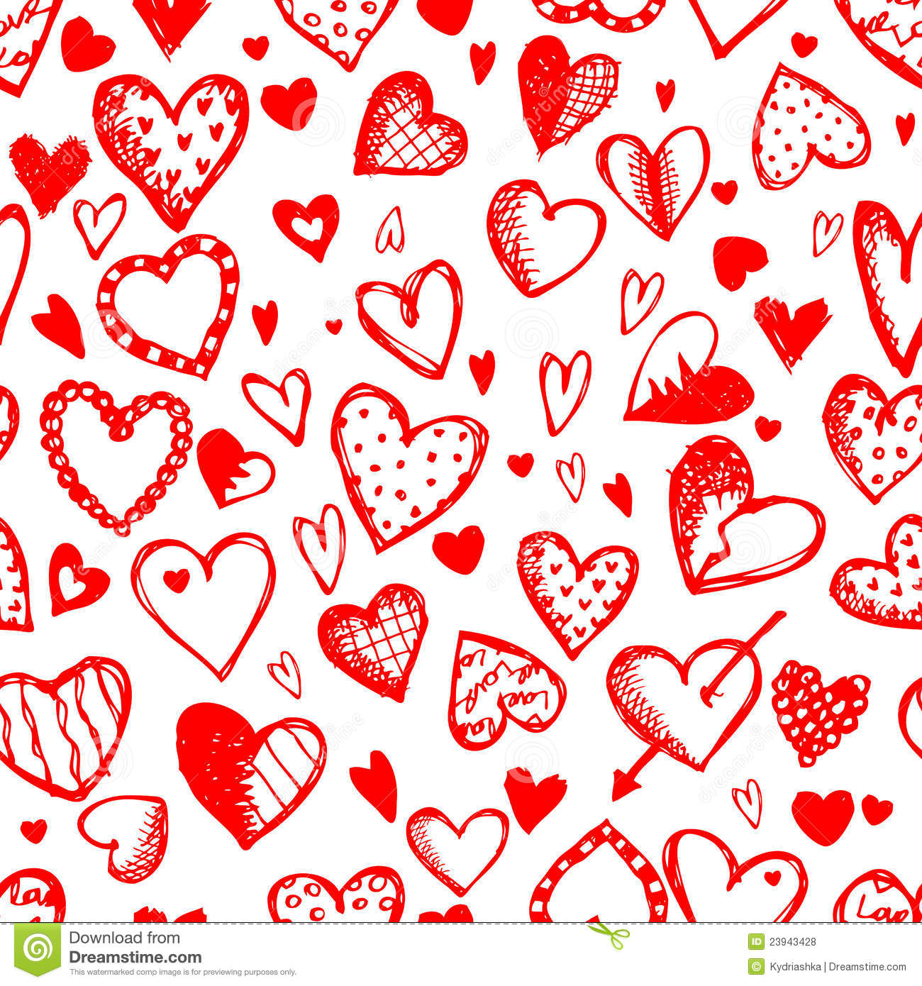 Seamless Pattern With Valentine Hearts Royalty Free Stock Photos ...