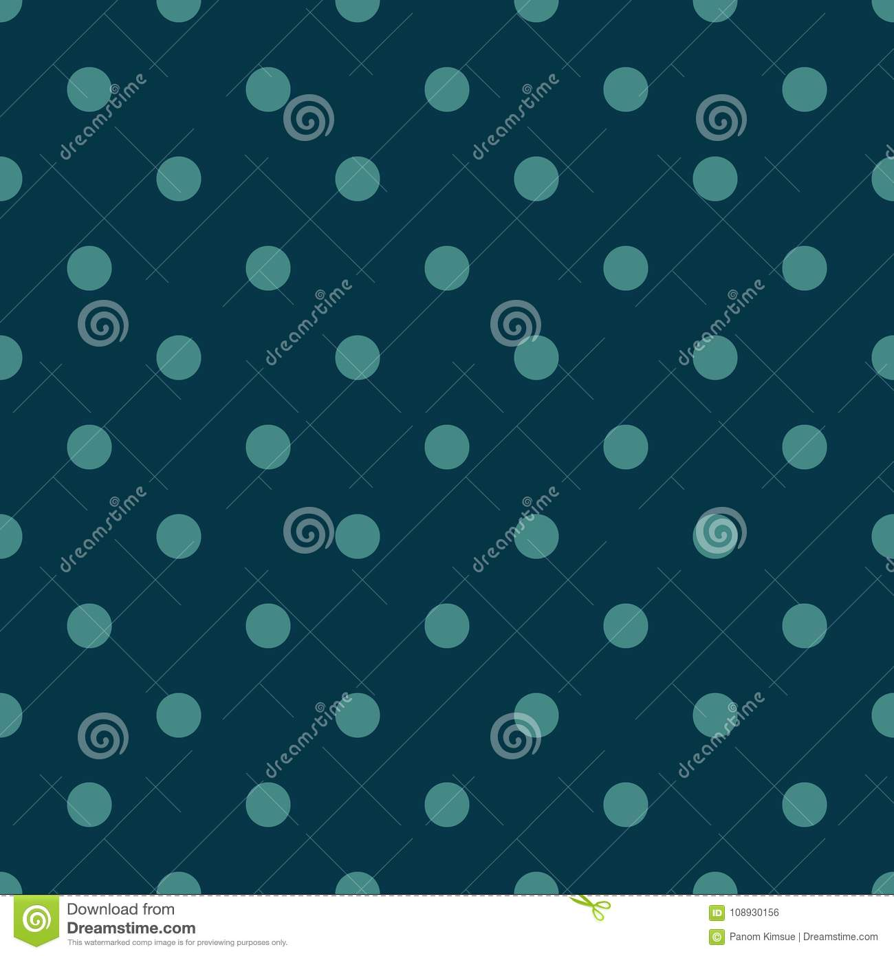 Seamless Pattern Vector With Green Polka Dots On Blue Color Background For Desktop Wallpaper Web Design Cards Invitations Wedd Stock Vector Illustration Of Fabric Color 108930156