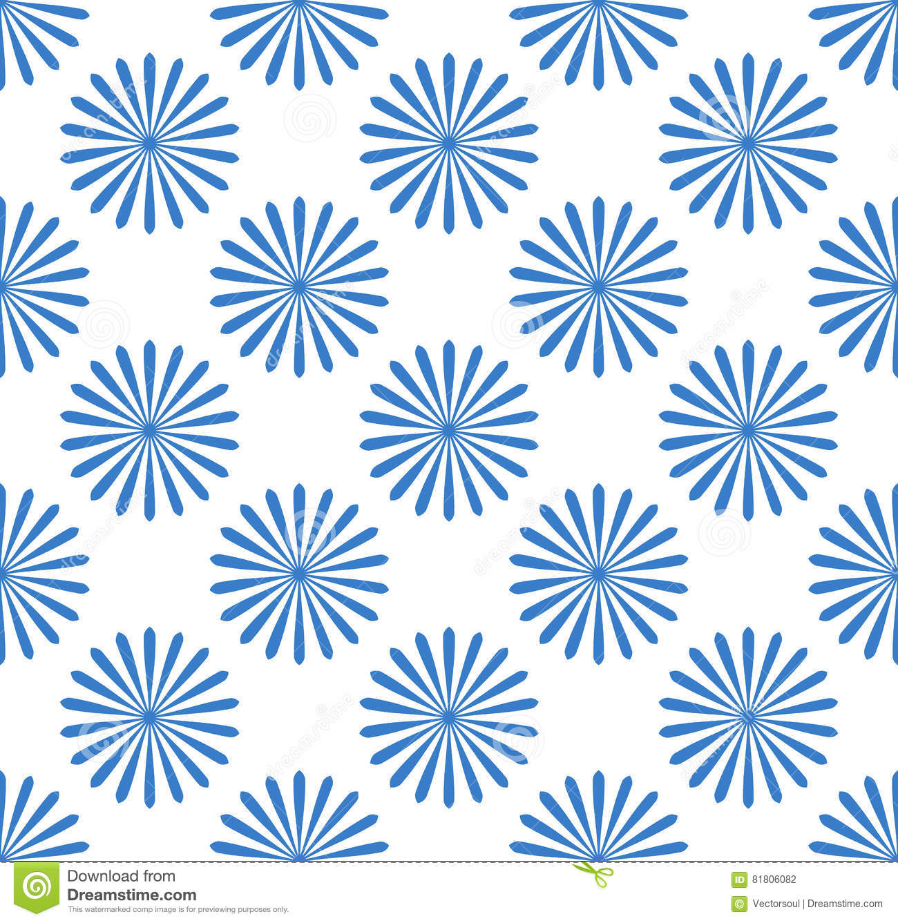 Seamless Pattern With Simple Floral, Flower Motif Cartoon