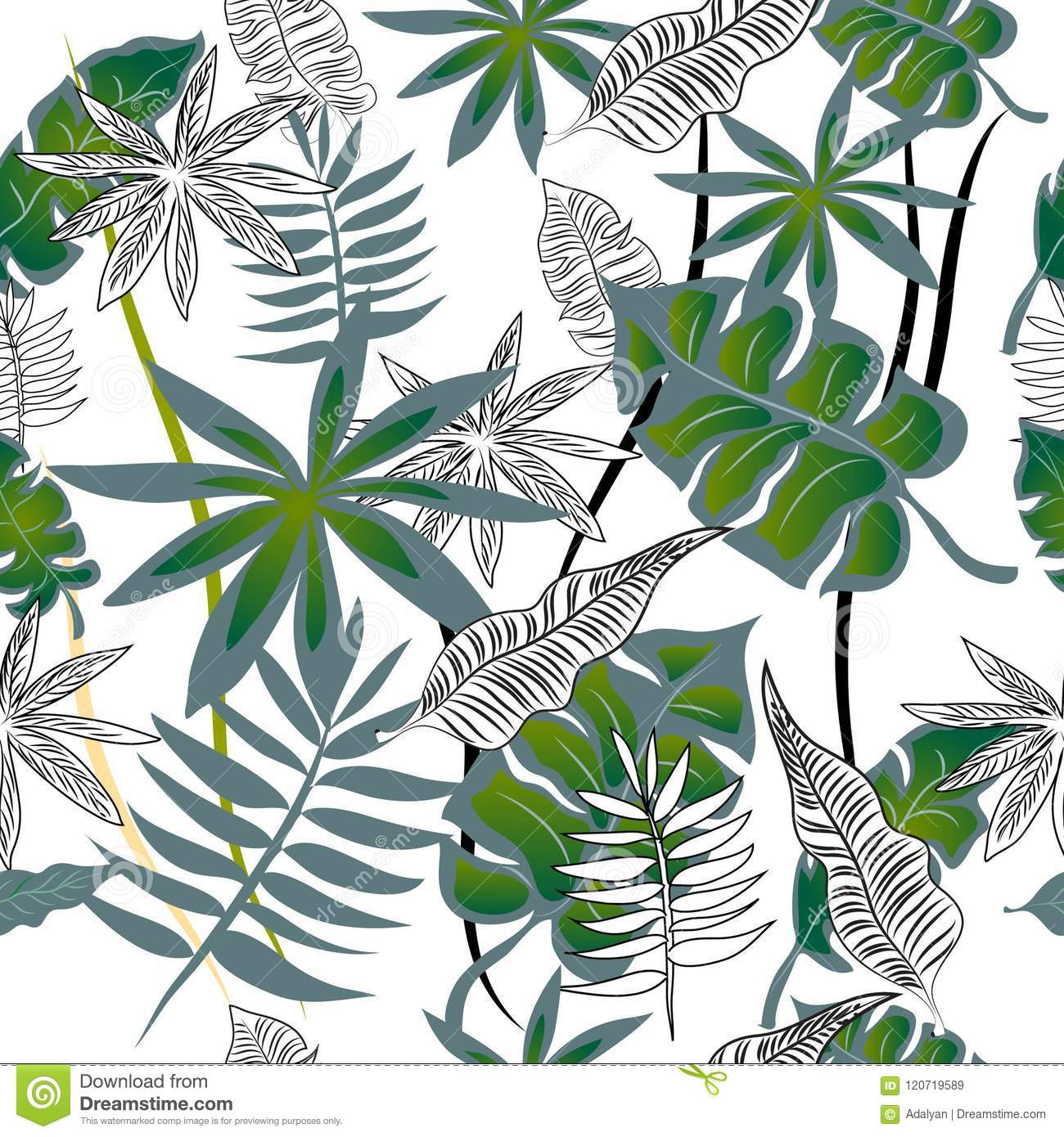 Seamless Pattern For Wallpaper Vector Banner With Tropical Leaves Stock Illustration Illustration Of Tropical Banners 120719589 Leaves,tropical vector plant and more resources at freedesignfile.com. https www dreamstime com seamless pattern wallpaper vector banner tropical leaves easy design image120719589