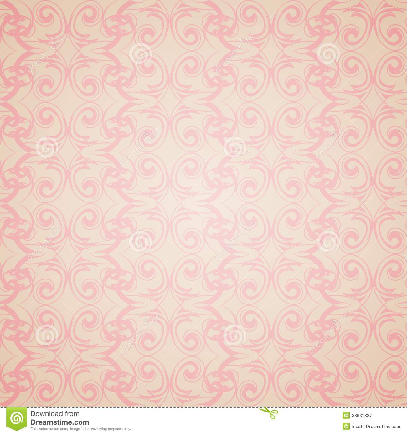 Seamless Pattern Wallpaper In Victorian Style Stock Vector