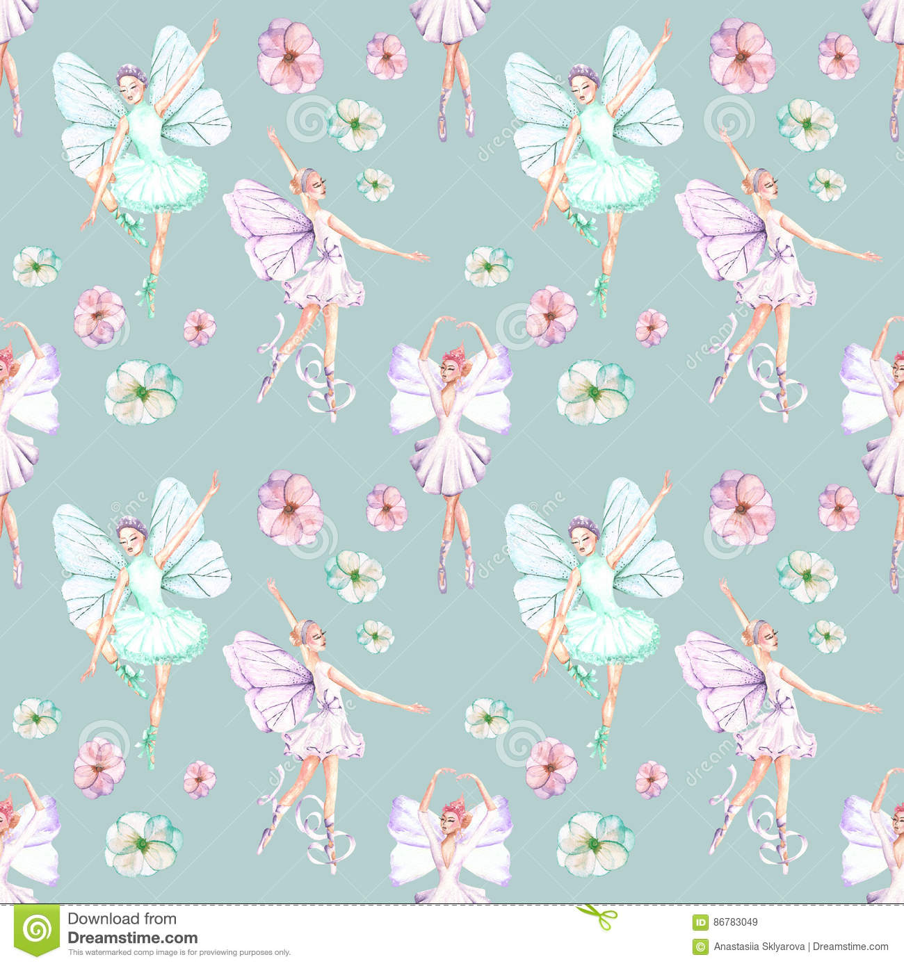 Seamless pattern of ballet dancers royalty free stock photography - Royalty Free Illustration Background Ballet
