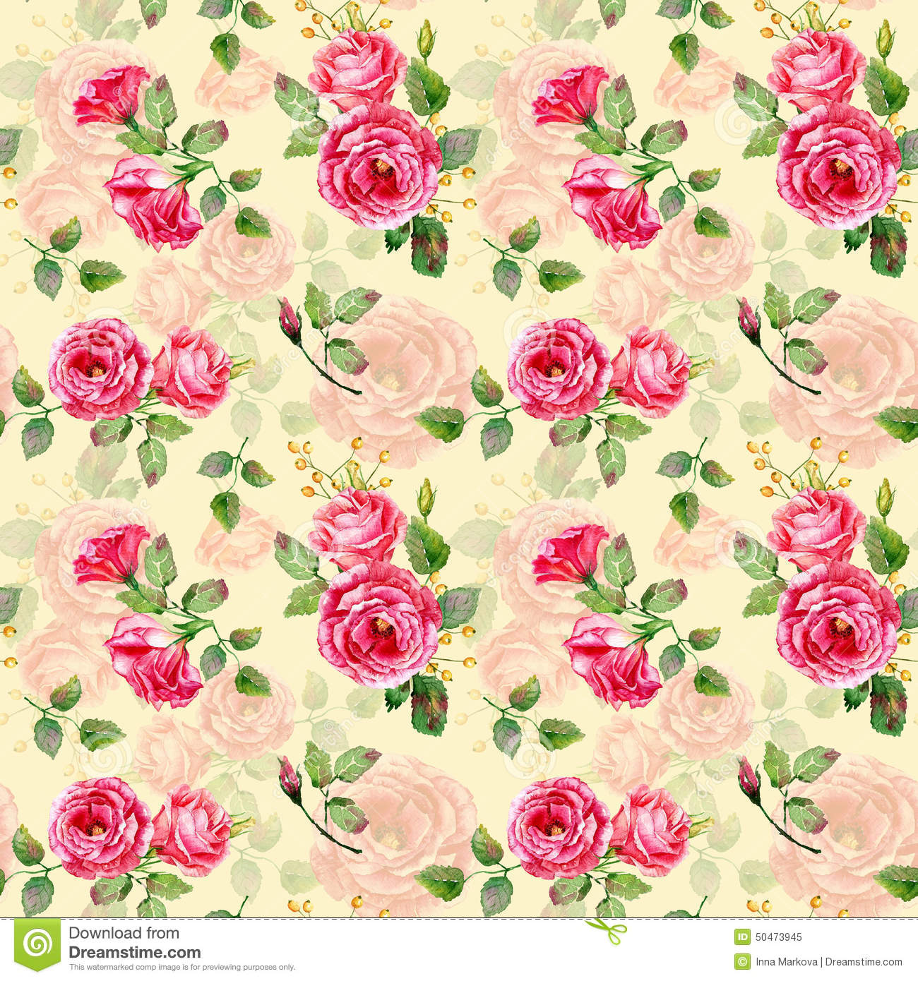 Seamless pattern of watercolor red roses stock illustration seamless pattern of watercolor red roses flower hibiscus mightylinksfo