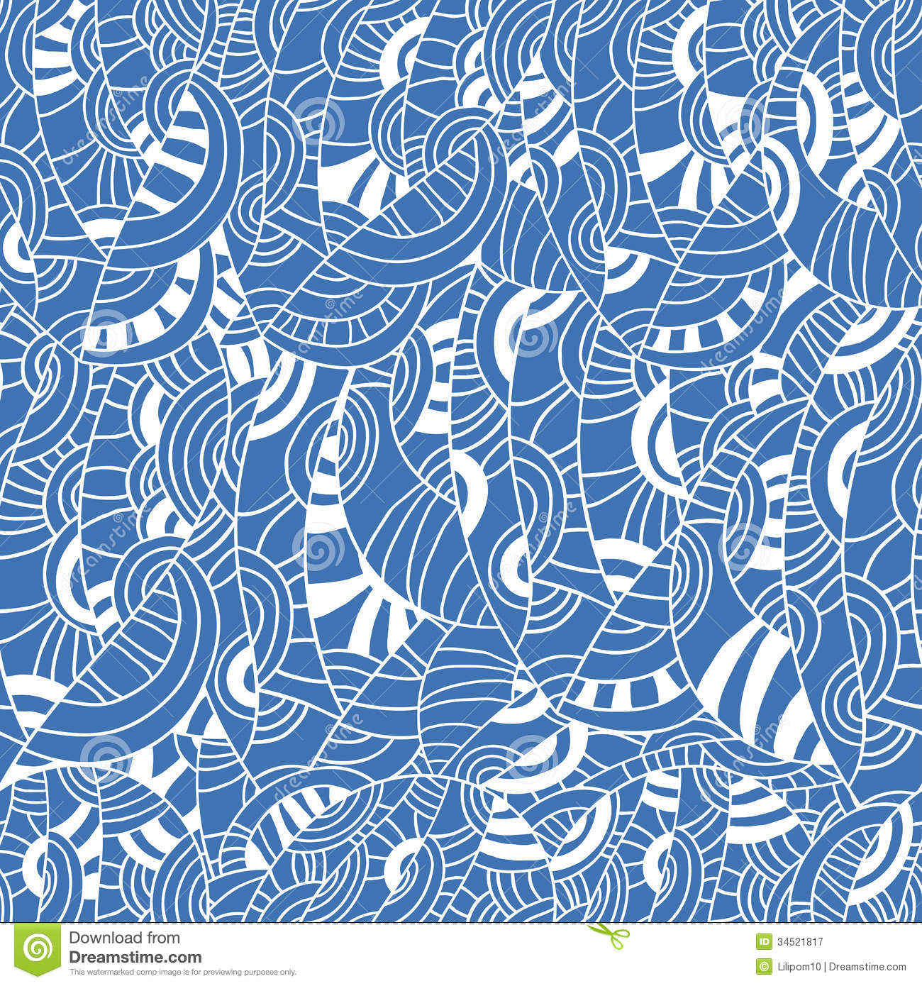 Seamless Pattern With Waves Stock Vector Image 34521817