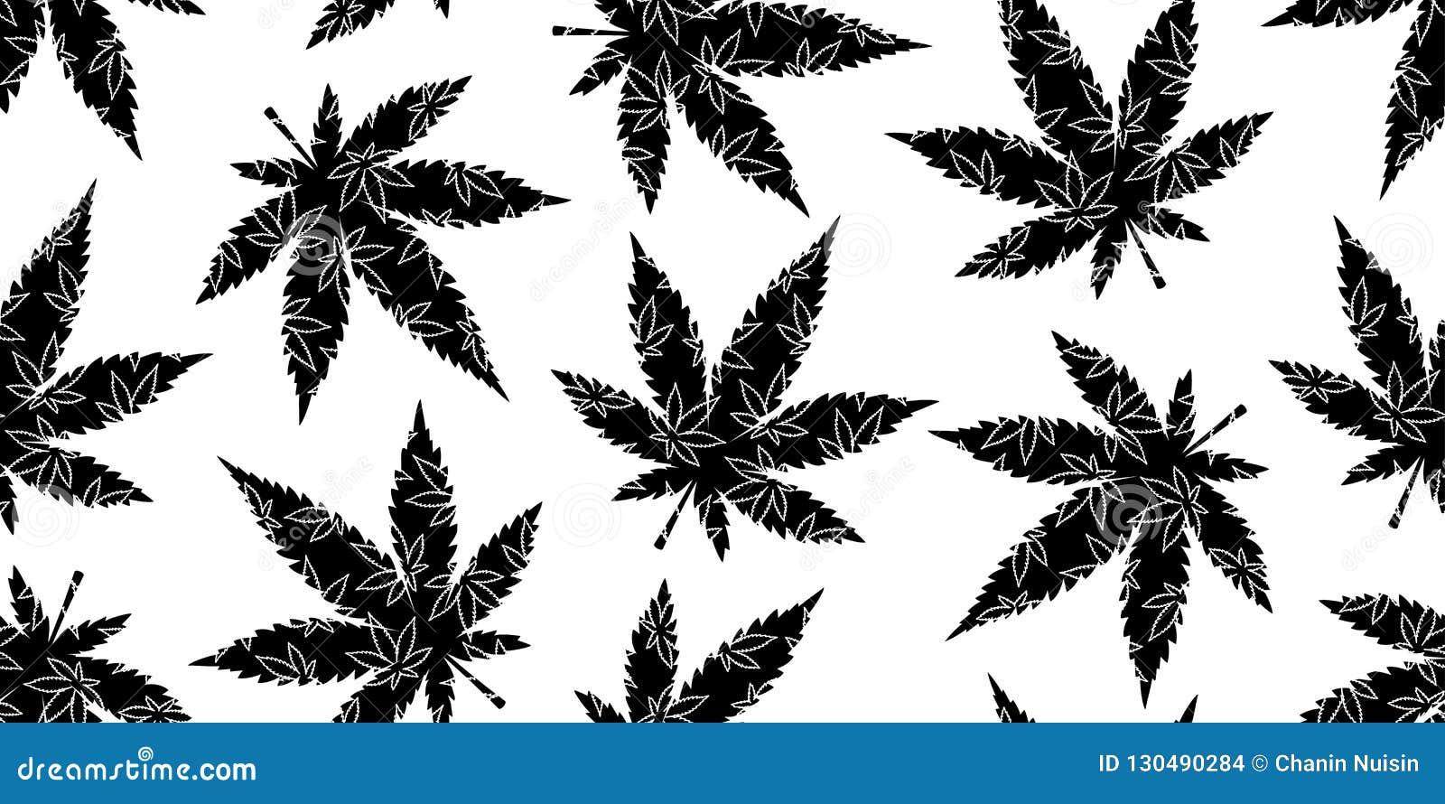 Marijuana Seamless Pattern Weed Cannabis Leaf Camouflage