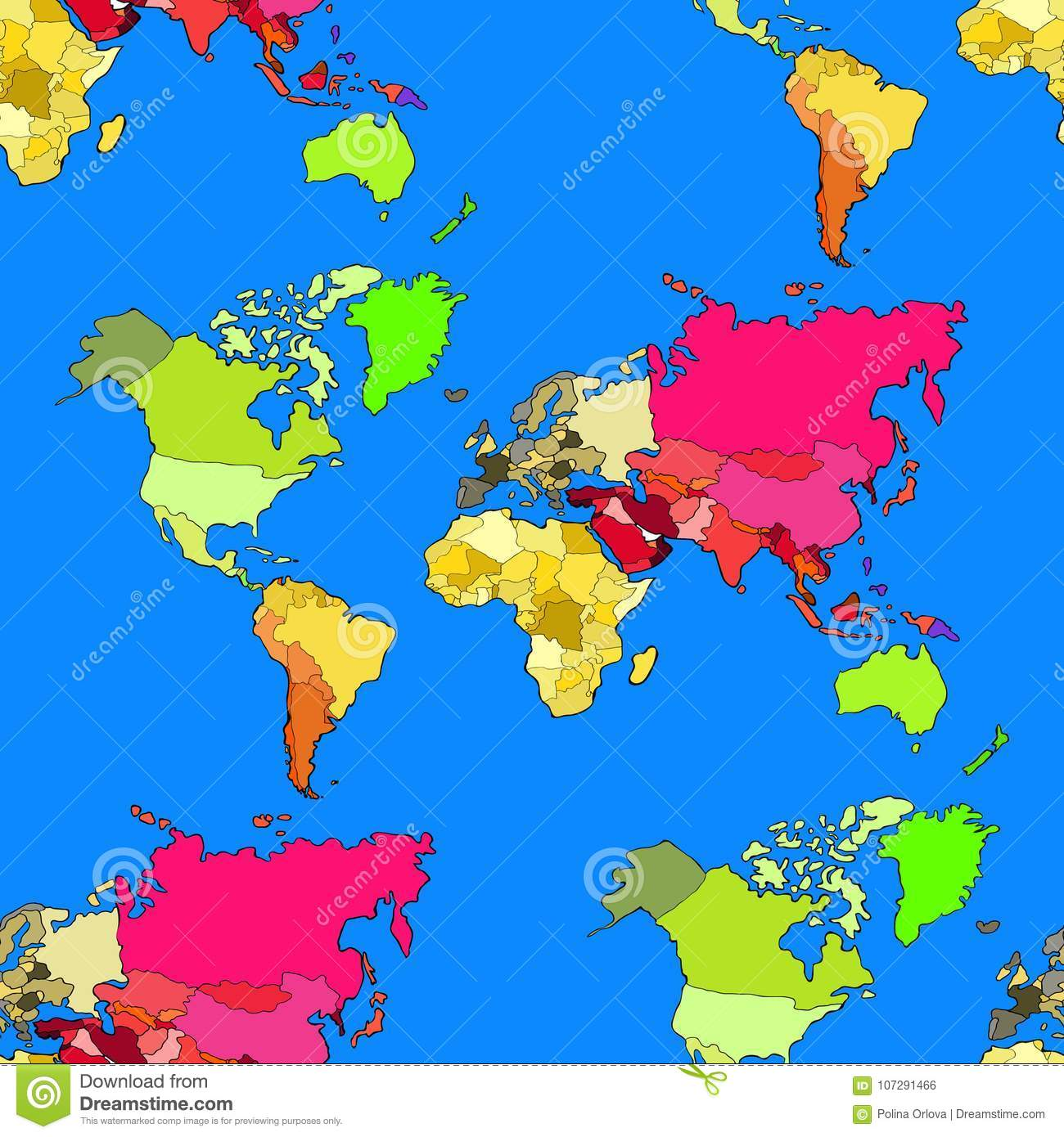 Seamless pattern world map continents and countries vector illu download seamless pattern world map continents and countries vector illu stock vector illustration of gumiabroncs Choice Image