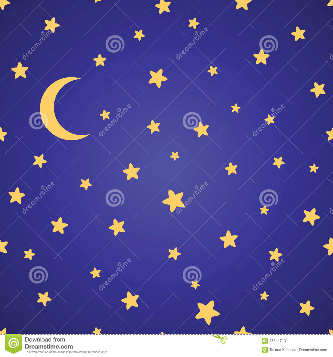 Seamless pattern with night sky and stars royalty free for Images of stars for kids