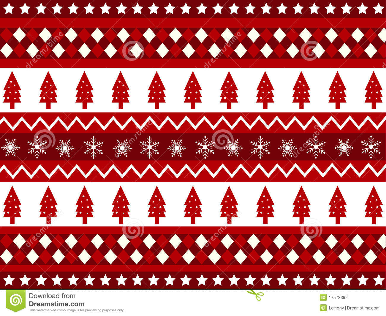 Seamless Patterns With Christmas Fabric Texture Stock Photography ...