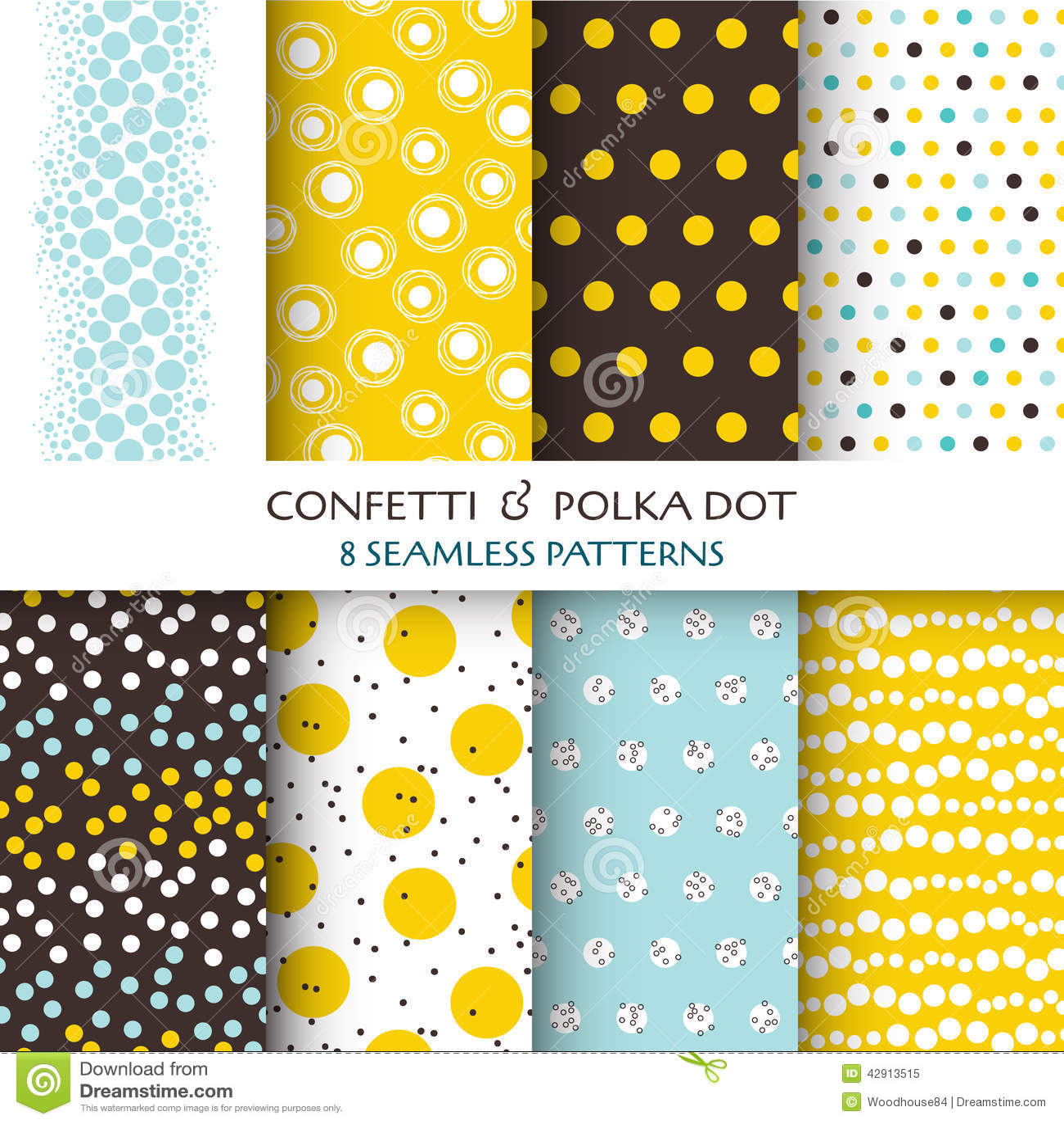 8 Seamless Patterns - Confetti and Polka Dot