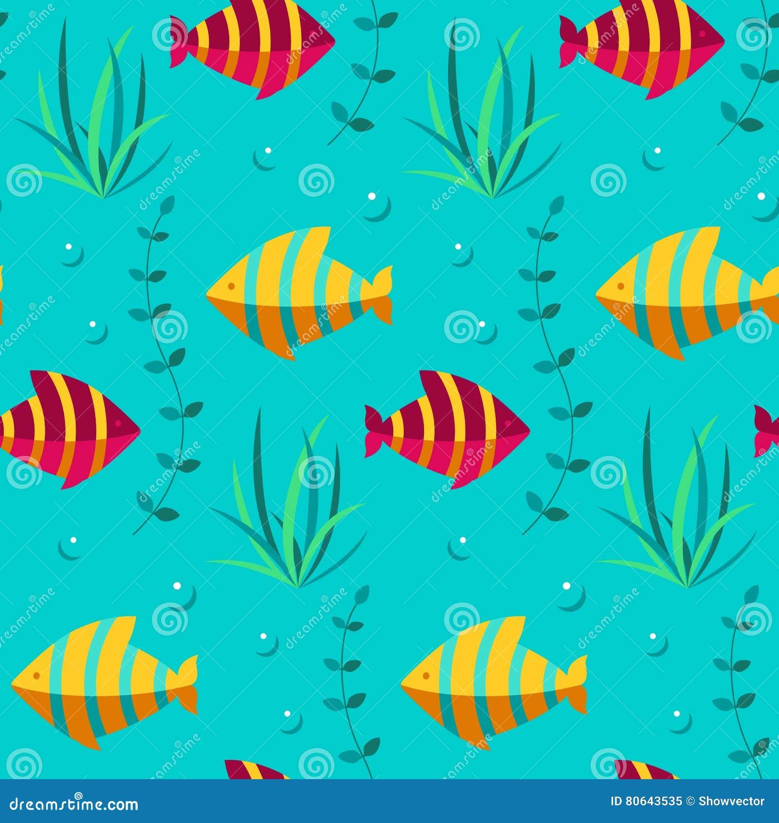 Seamless Patterns Sea Vector Stock Vector Illustration Of Fabric