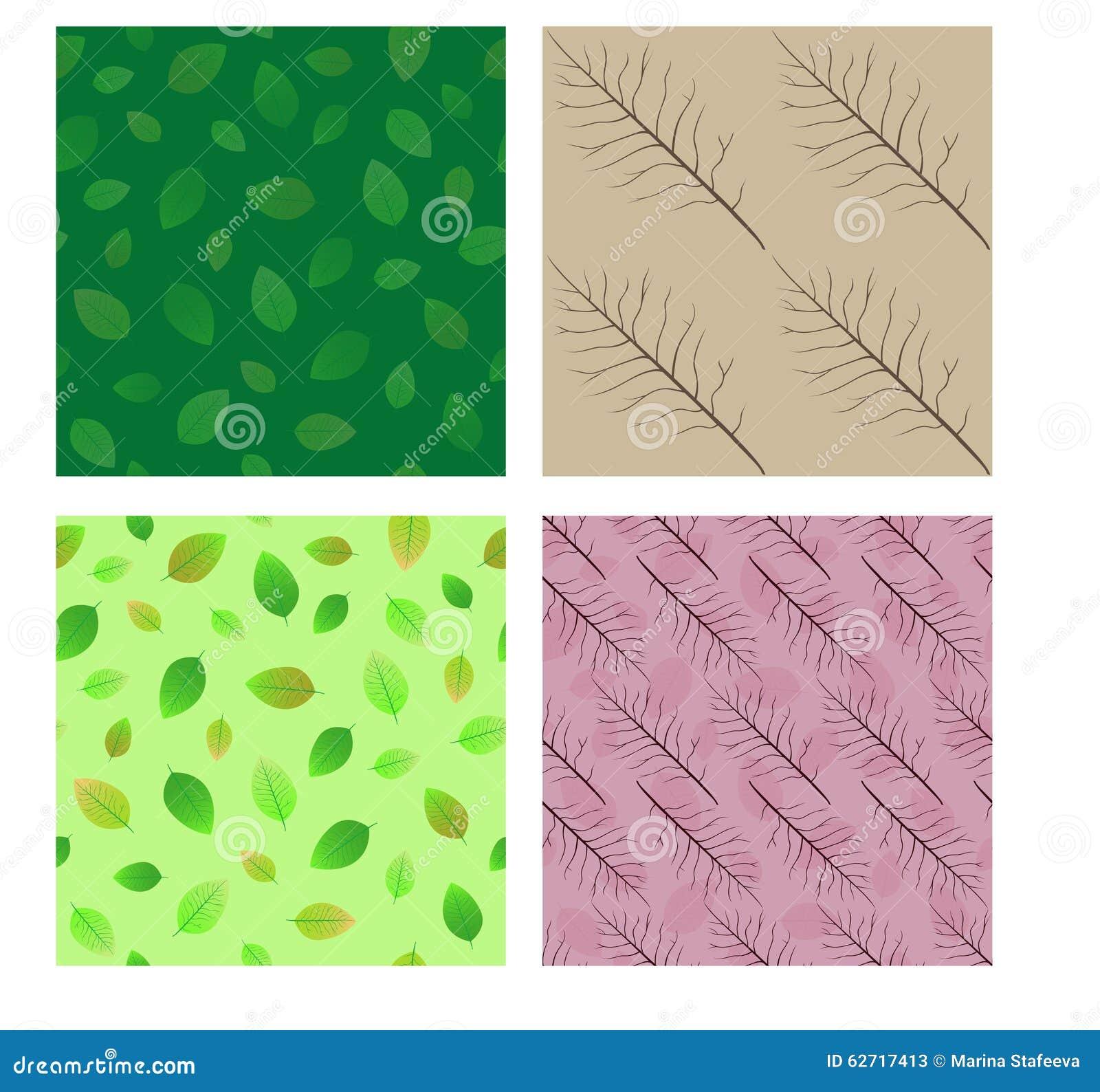 Seamless patterns. Set.
