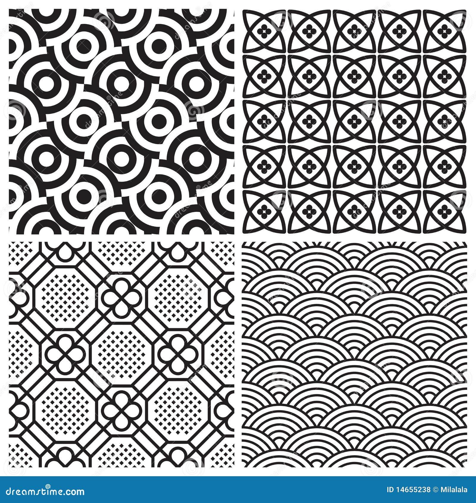 Seamless patterns set (vector)
